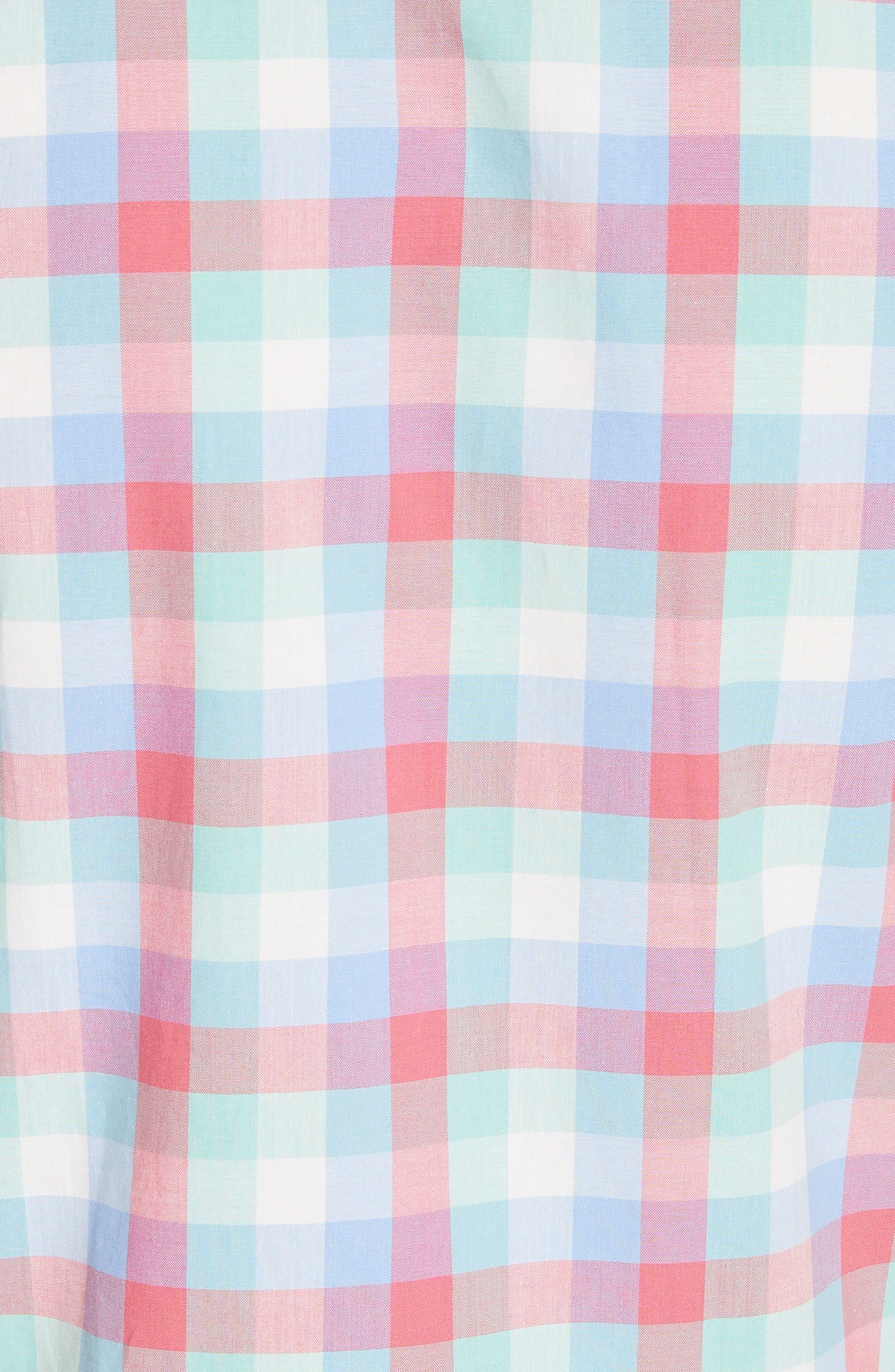 madras poplin shirtdress,                             Alternate thumbnail 5, color,                             Multi