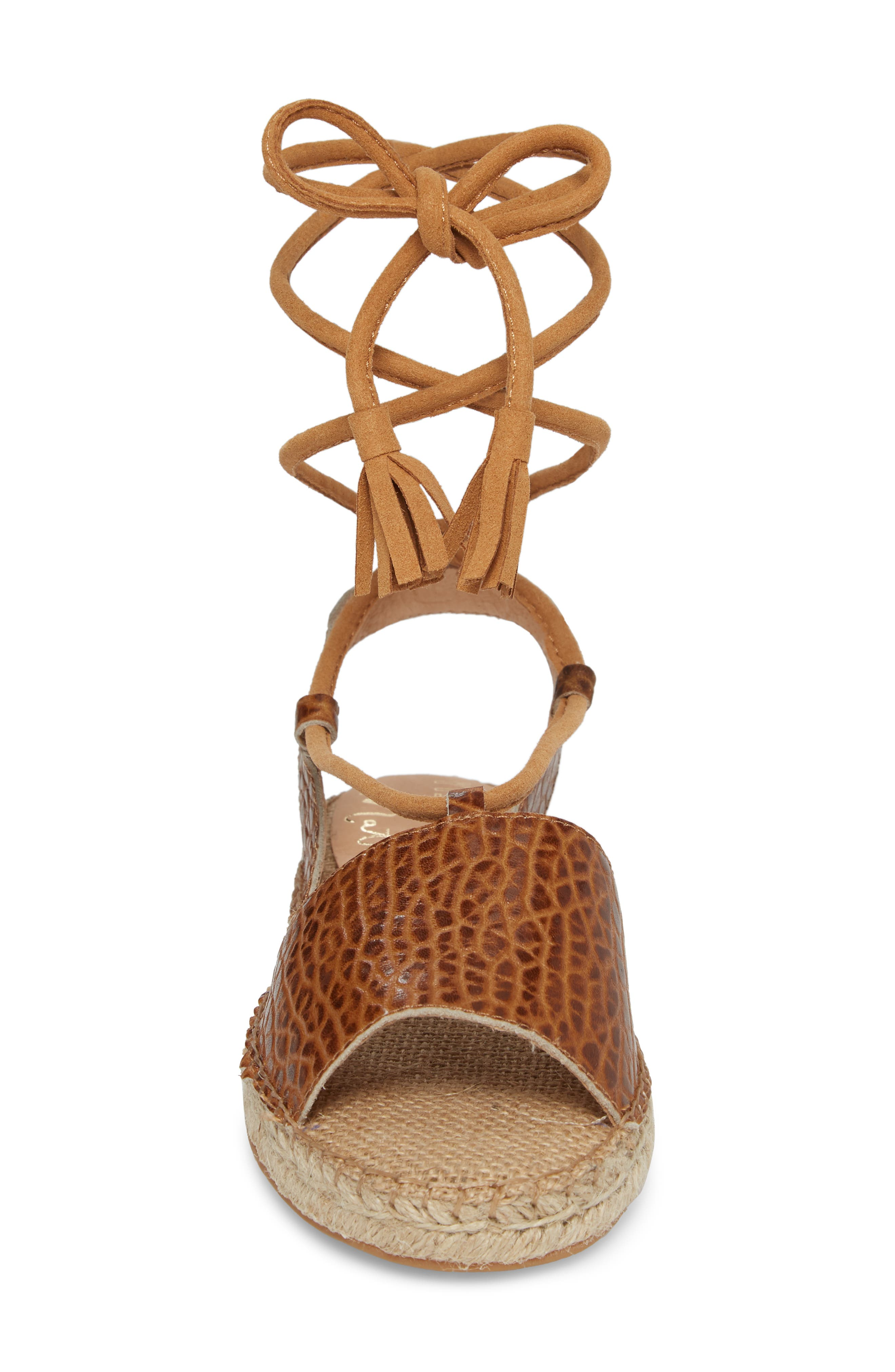 Amuse Society x Matisse La Vita Sandal,                             Alternate thumbnail 4, color,                             Tan Leather