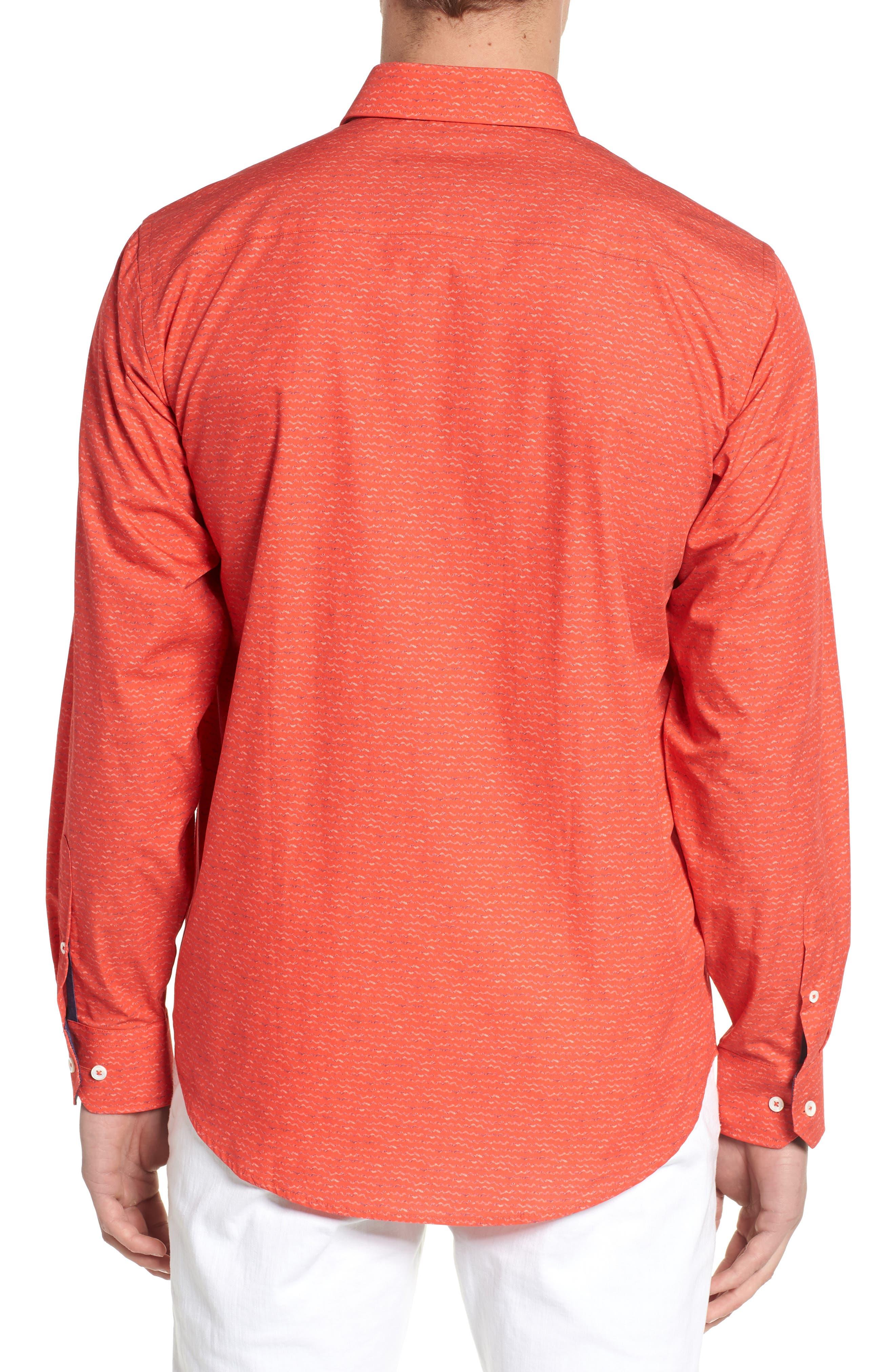 Classic Fit Woven Sport Shirt,                             Alternate thumbnail 2, color,                             Cherry
