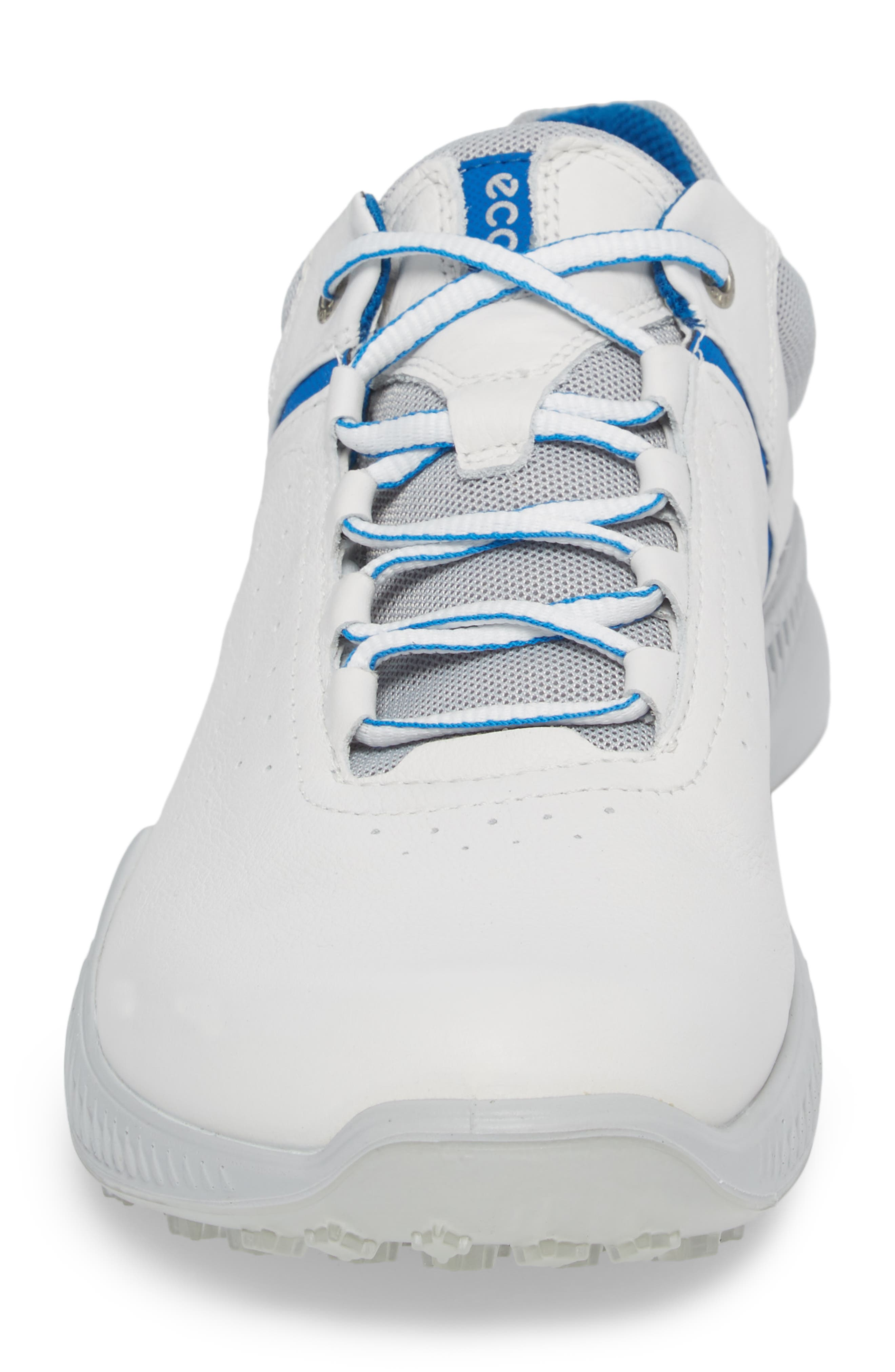 S-Drive Water Repellent Golf Shoe,                             Alternate thumbnail 4, color,                             White Leather