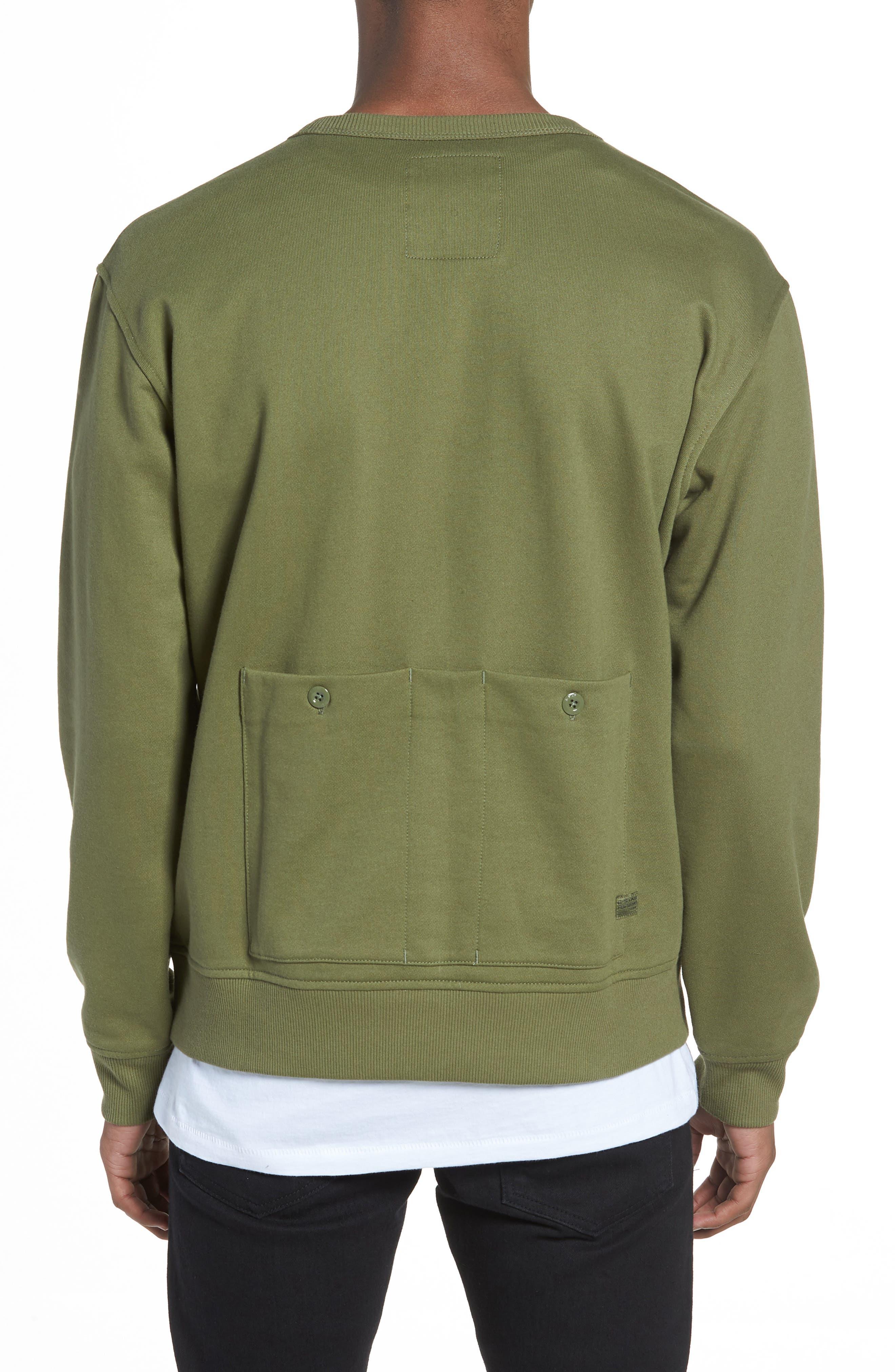 Core Hybrid Archive Sweatshirt,                             Alternate thumbnail 2, color,                             Sage