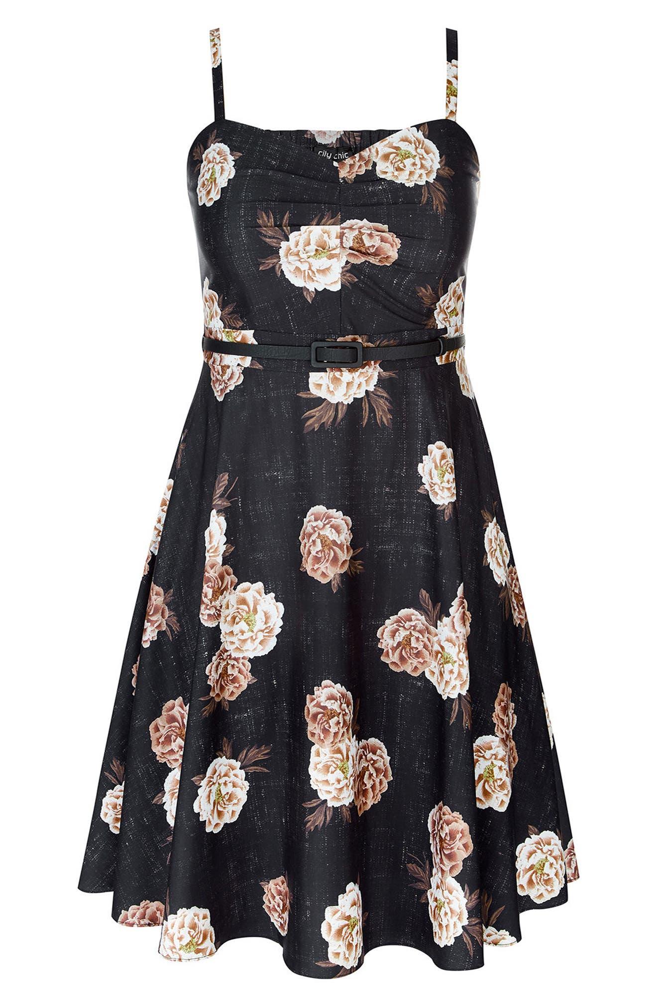 Antique Rose A-Line Dress,                             Alternate thumbnail 4, color,                             Antique Rose