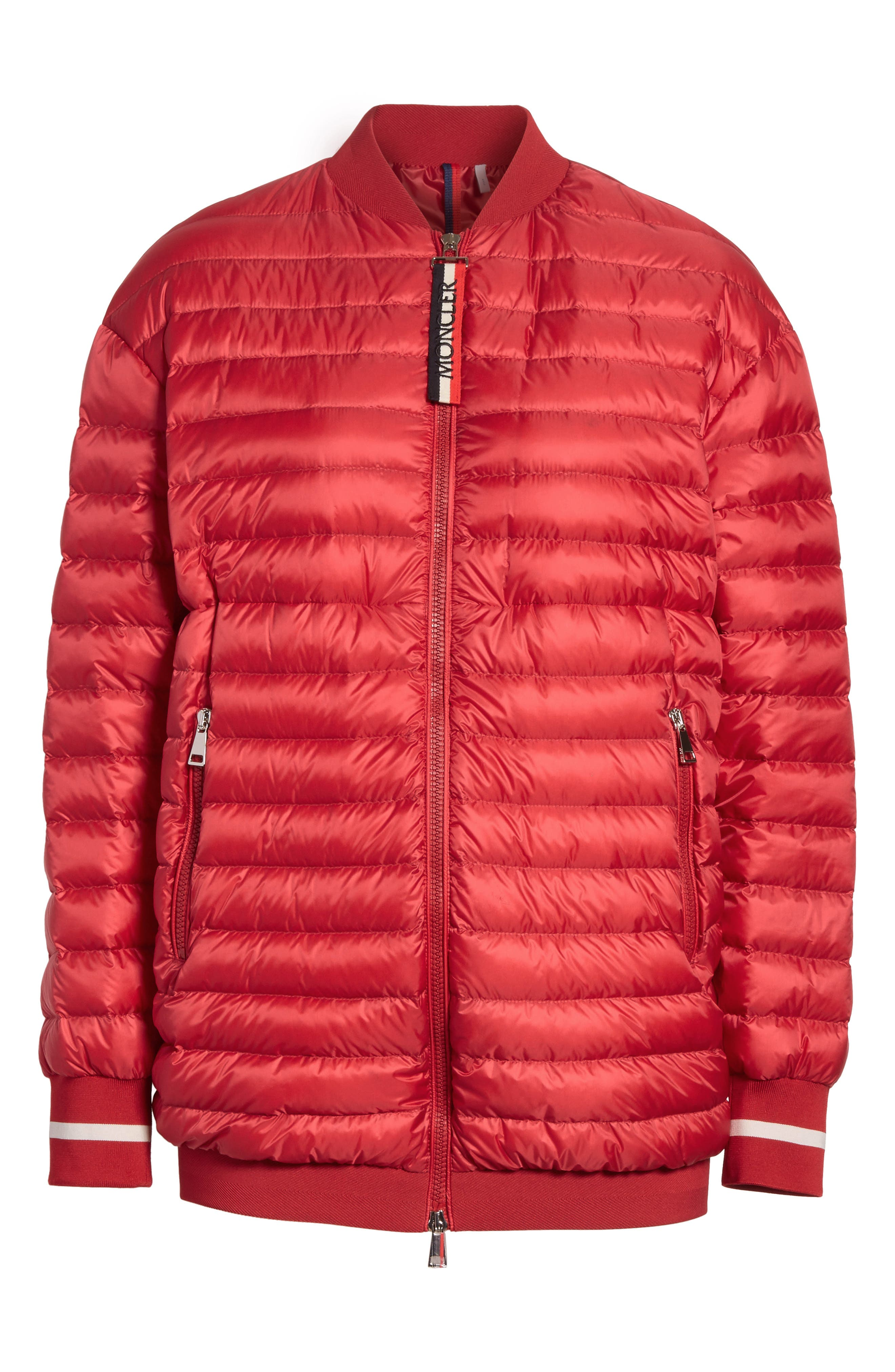Charoite Water Resistant Down Puffer Coat,                             Alternate thumbnail 8, color,                             Red