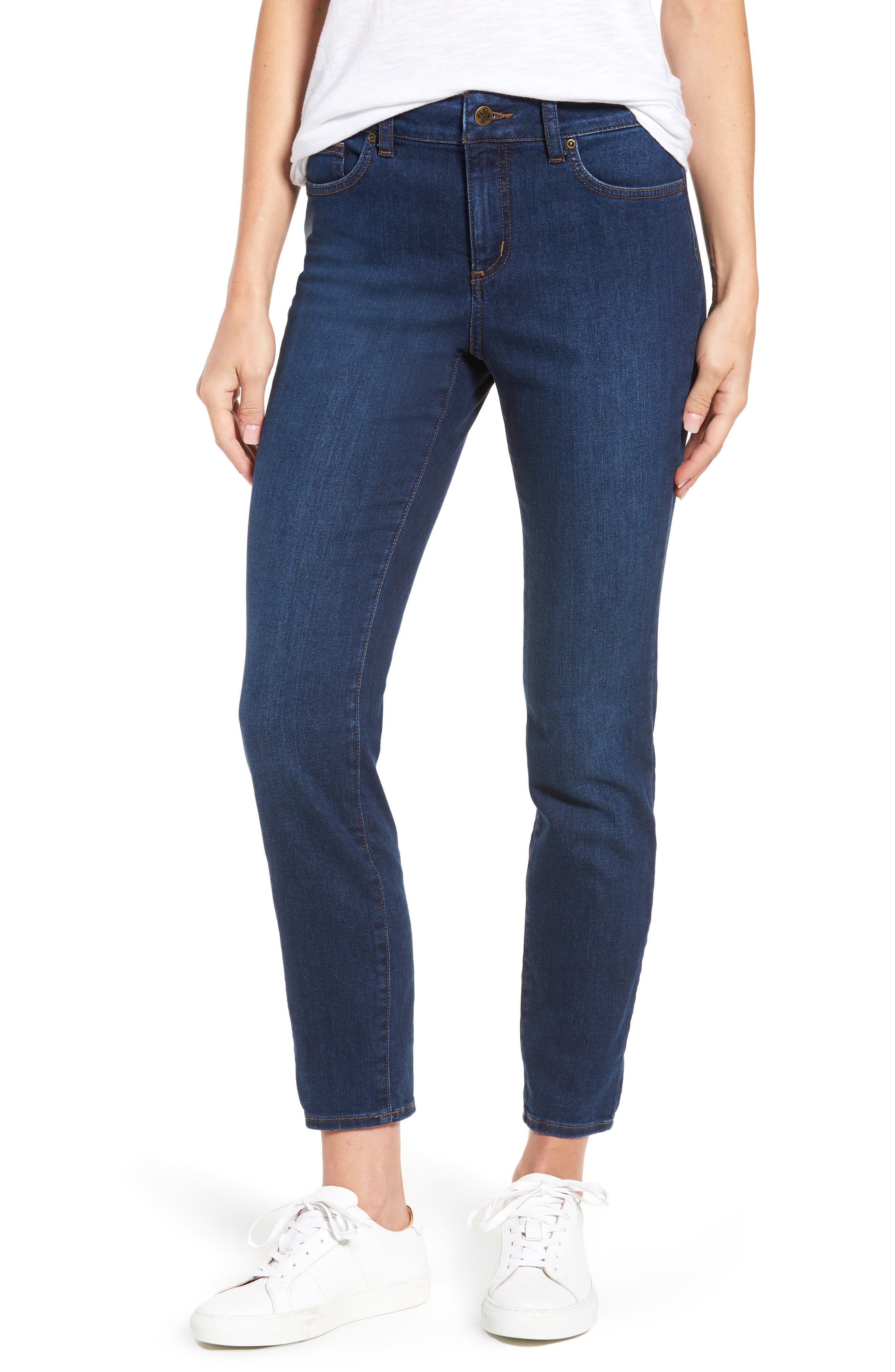 Alina Stretch Skinny Jeans,                         Main,                         color, Cooper