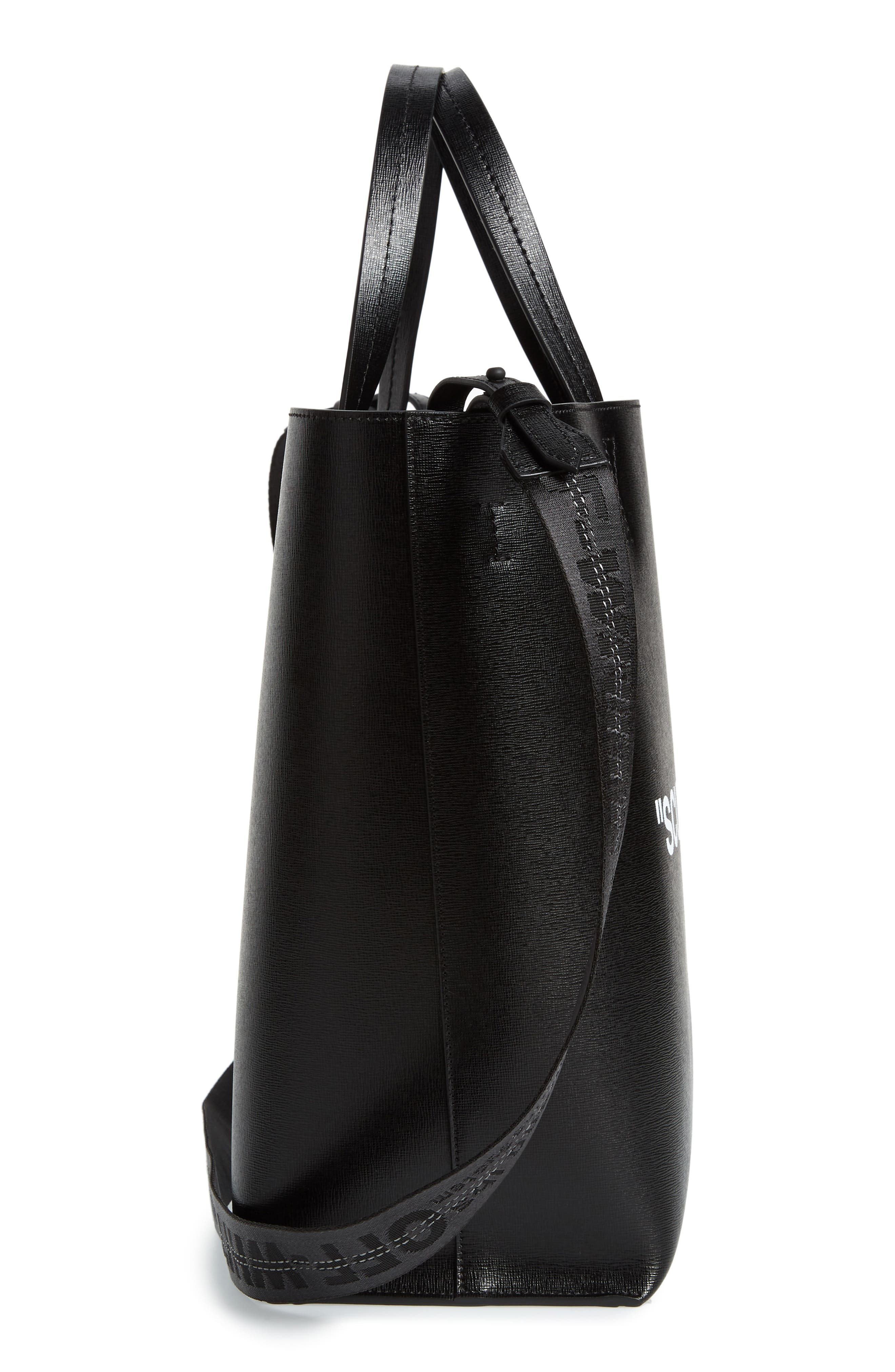 Alternate Image 5  - Off-White Large Sculpture Leather Tote