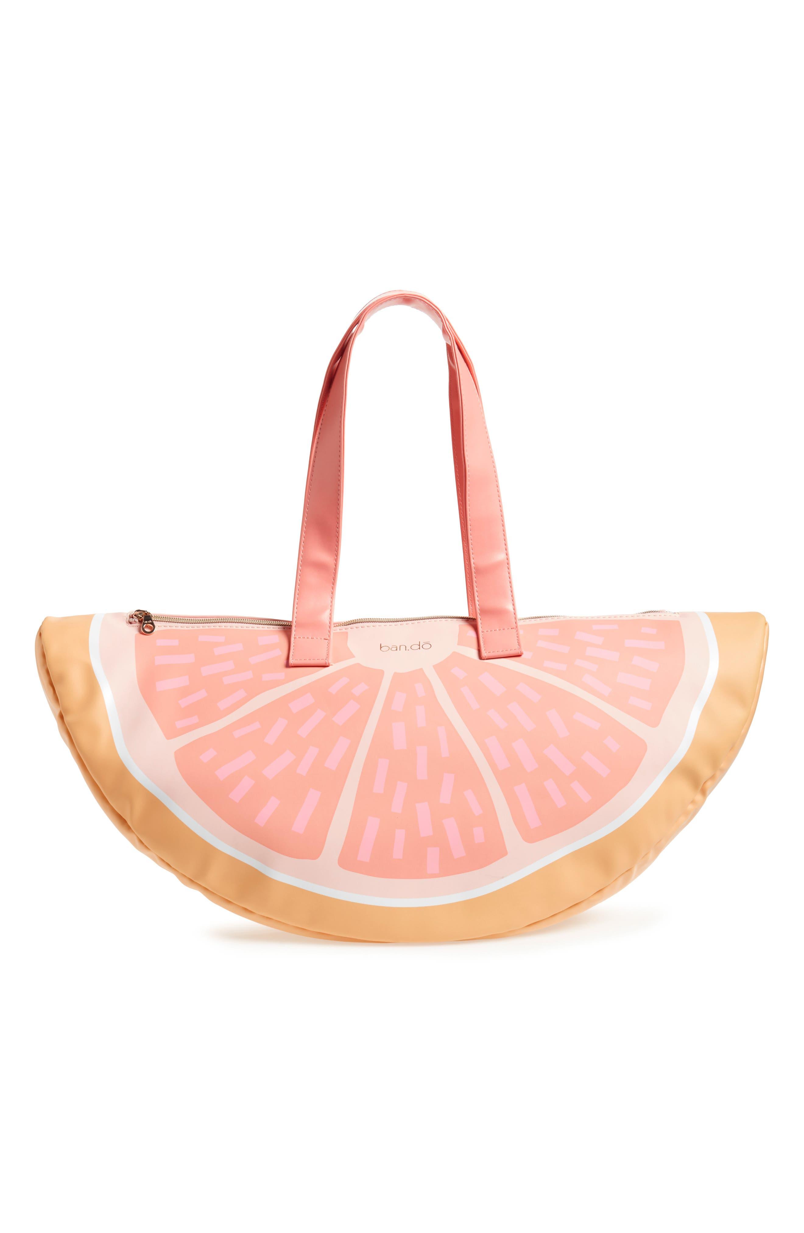 Grapefruit Cooler Bag,                             Main thumbnail 1, color,                             Coral