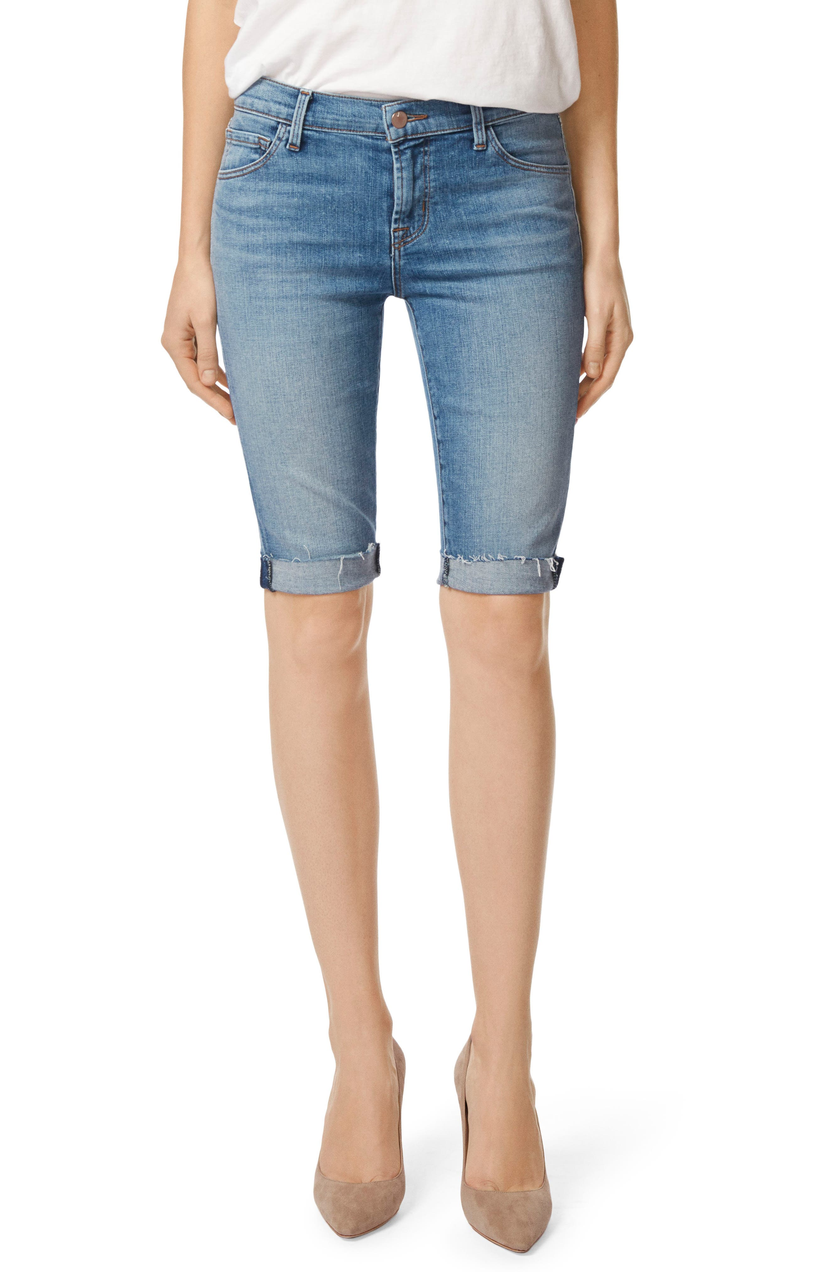 811 Skinny Bermuda Shorts,                         Main,                         color, Delphi