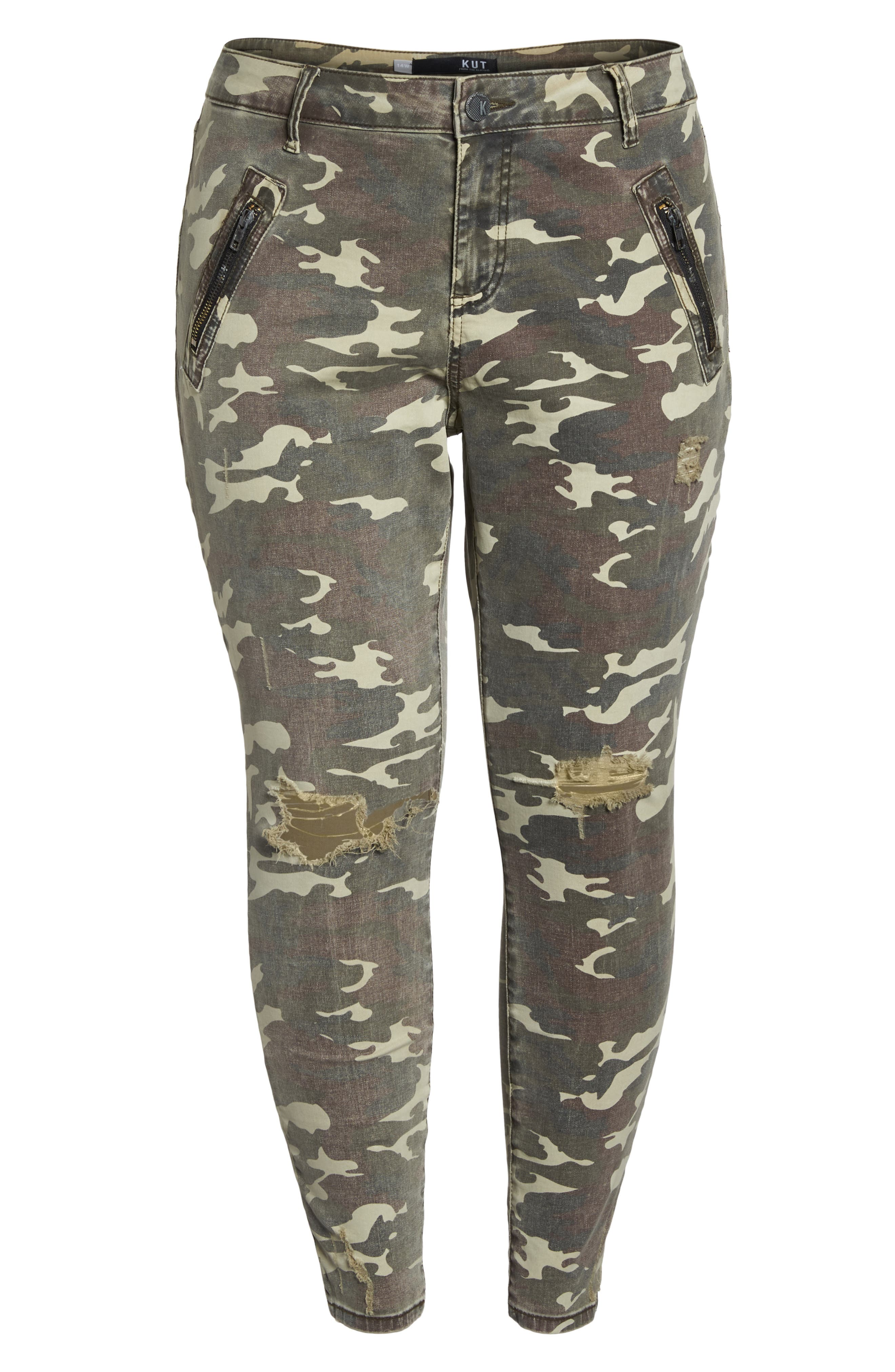Connie High Waist Ankle Skinny Jeans,                             Alternate thumbnail 7, color,                             Olive