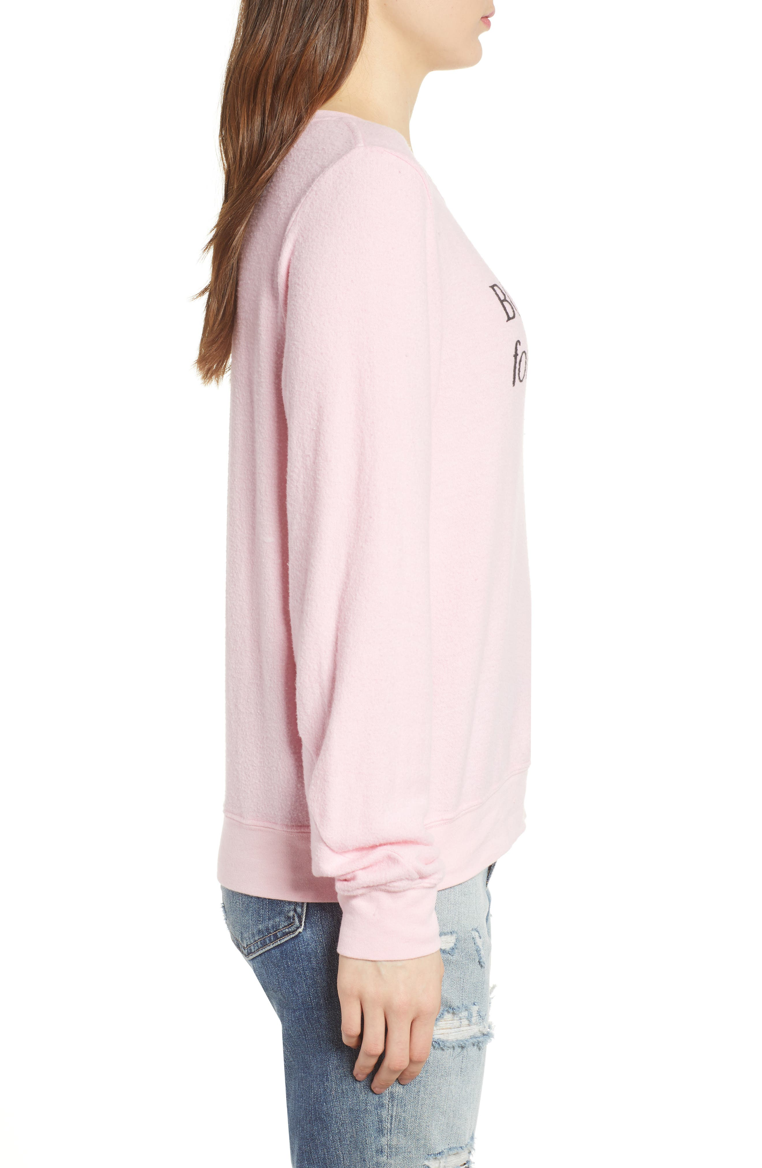 Born to Shop Forced to Work Sweatshirt,                             Alternate thumbnail 3, color,                             Lolita