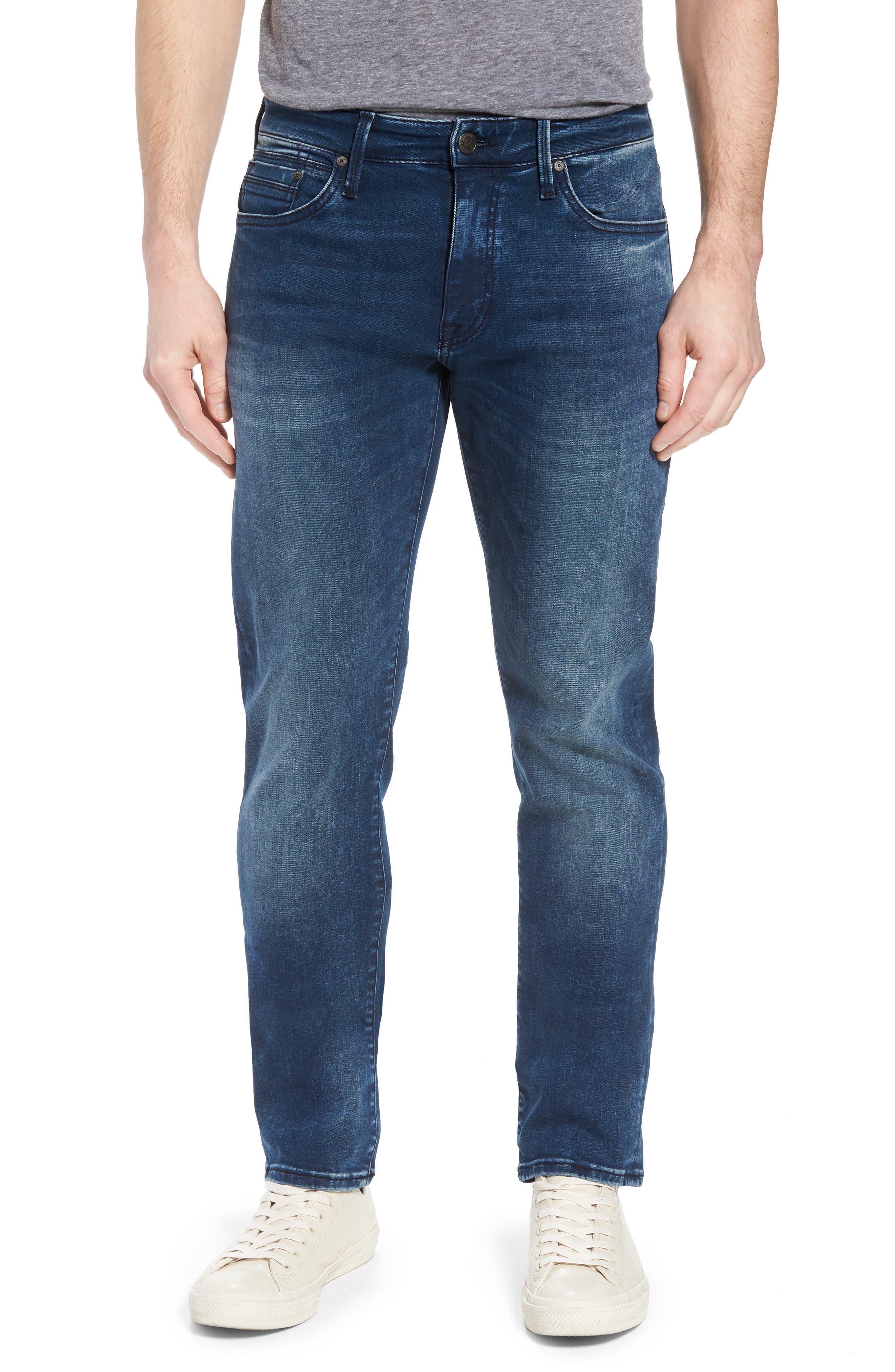 Marcus Slim Straight Leg Jeans,                         Main,                         color, Forest Blue Williamsburg