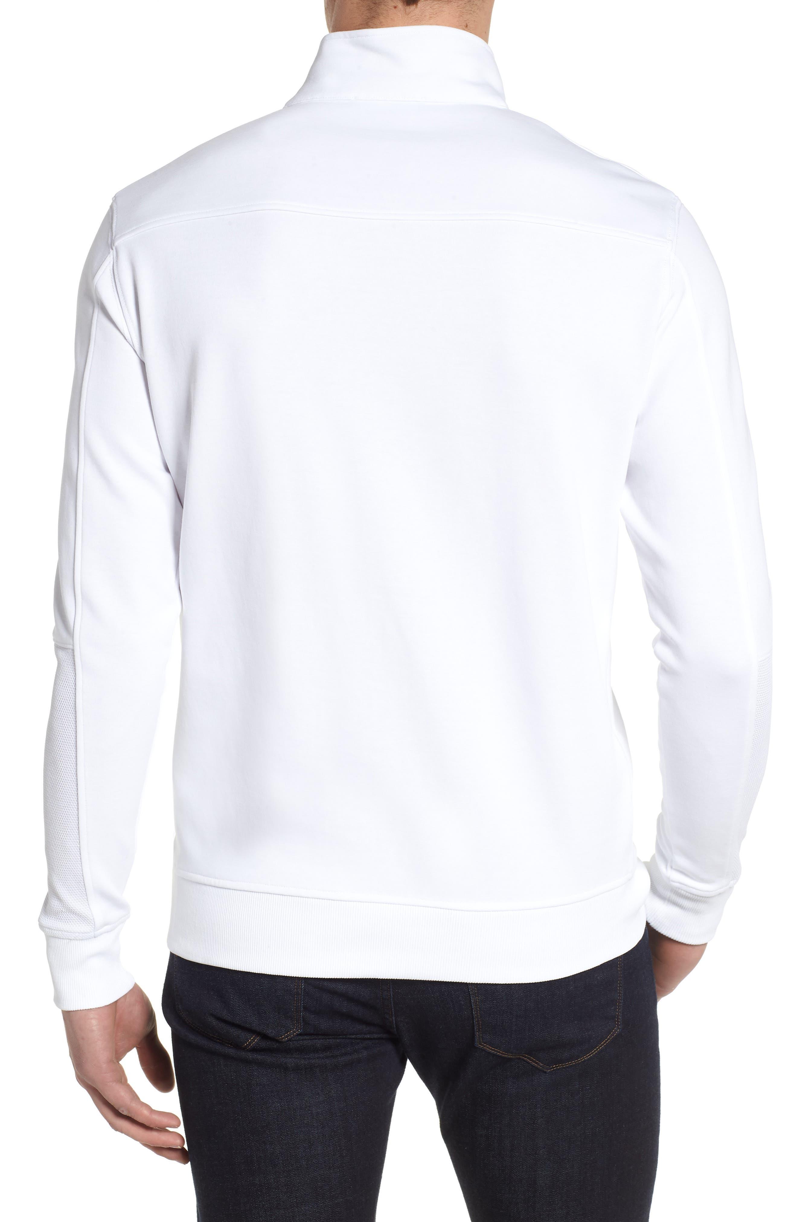 Regular Fit Knit Quarter Zip Pullover,                             Alternate thumbnail 2, color,                             White