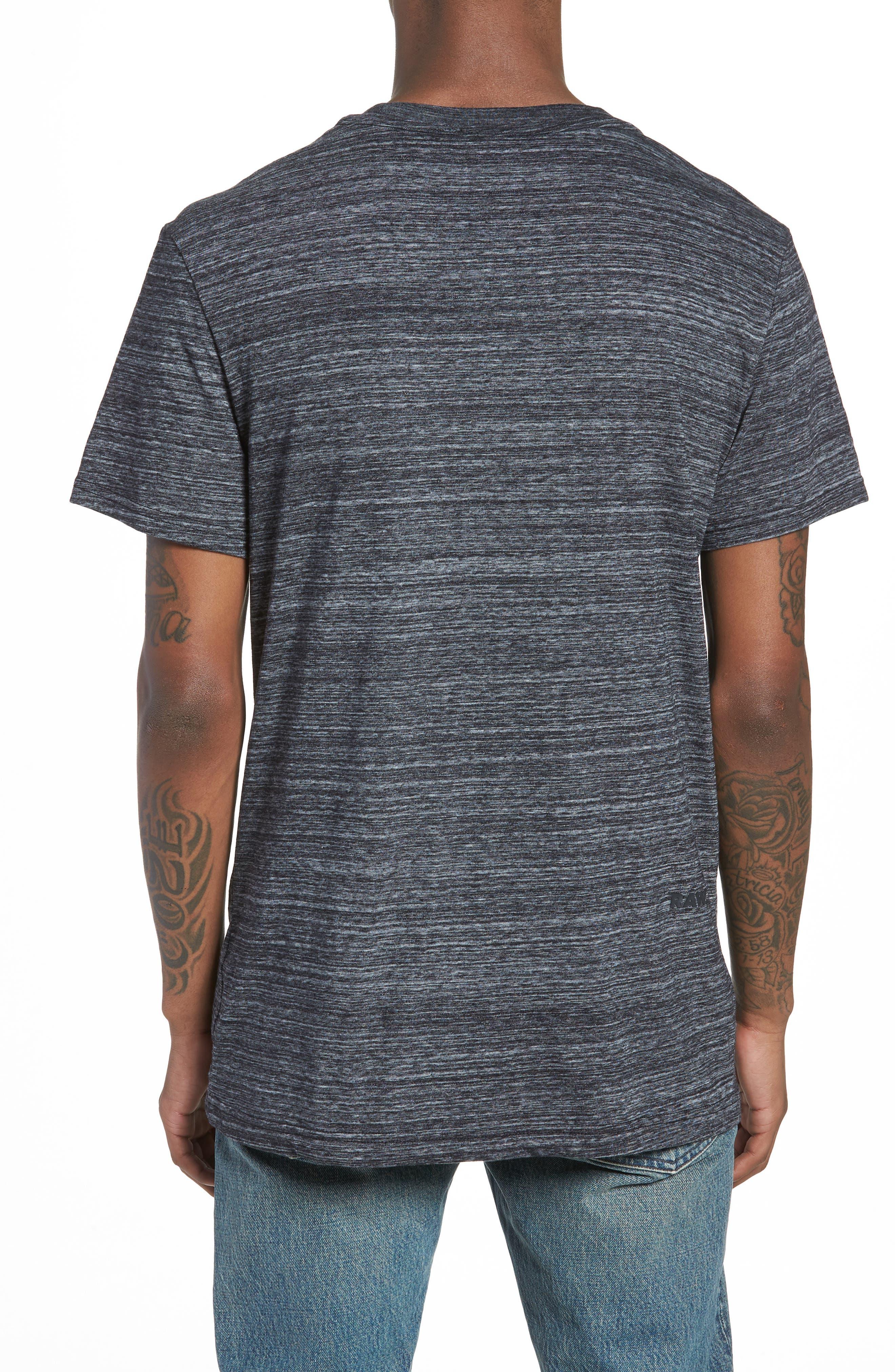 New Classic Regular T-Shirt,                             Alternate thumbnail 2, color,                             Dark Black Heather