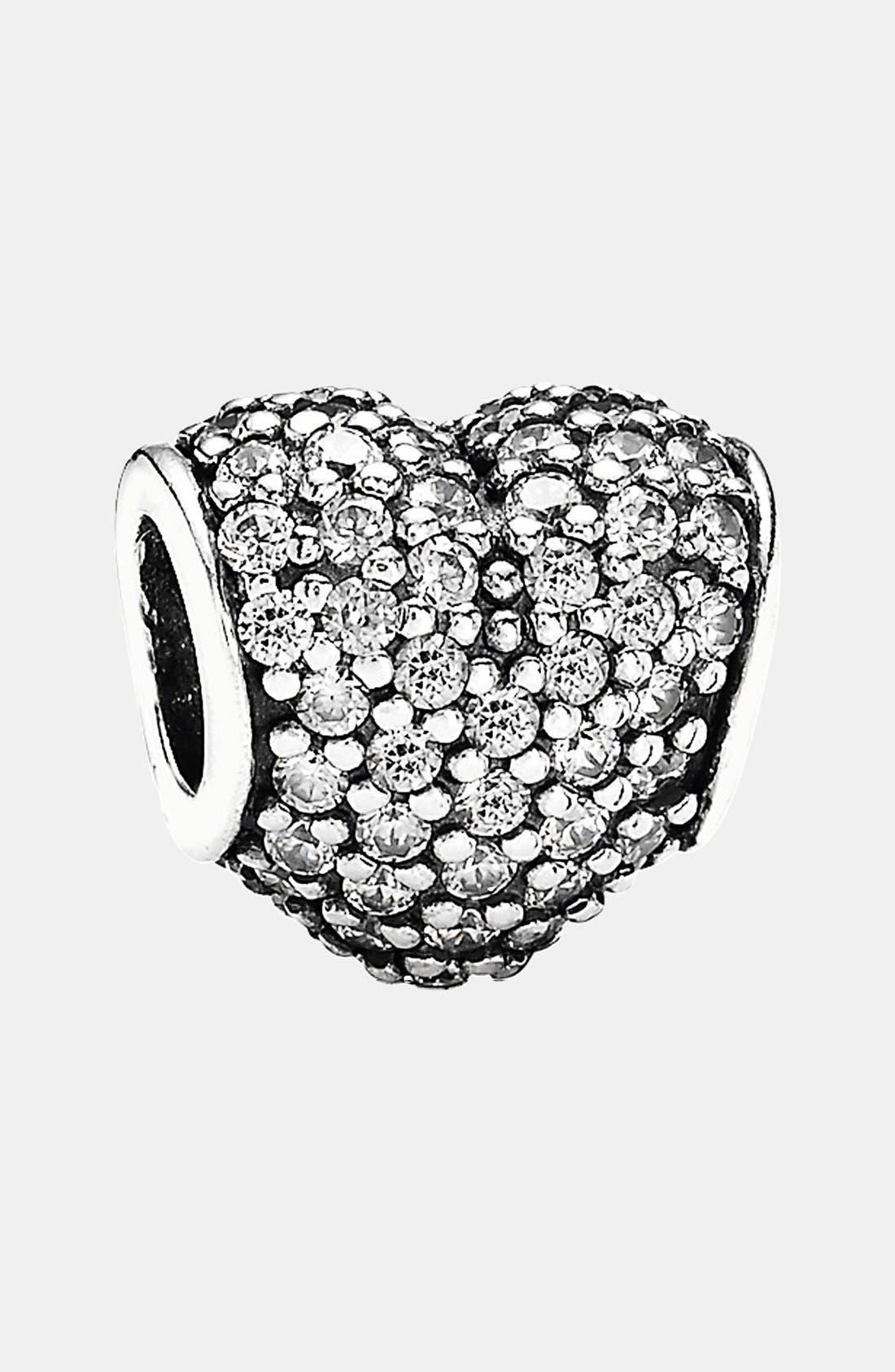 Main Image - PANDORA Pavé Heart Charm