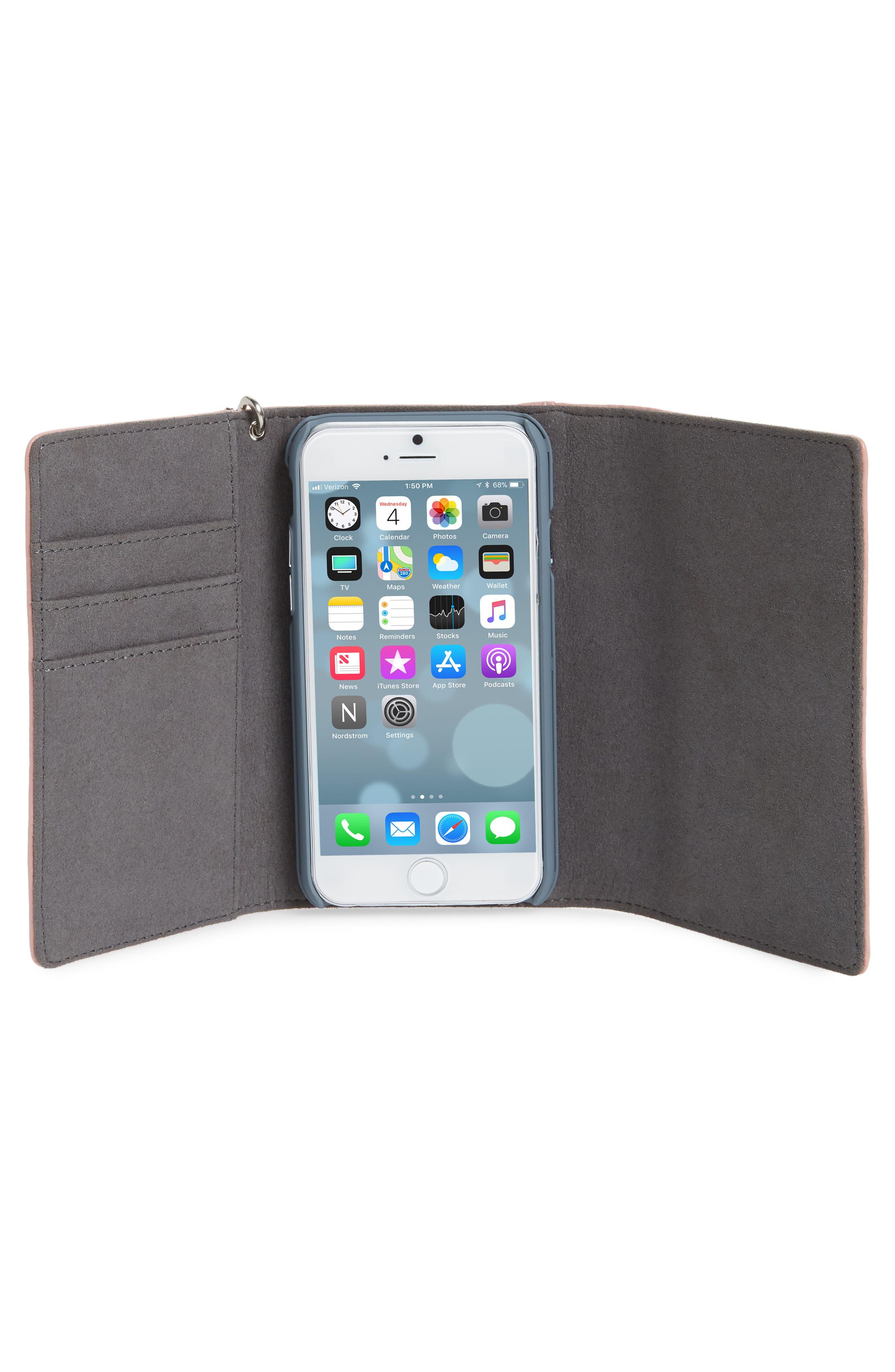 Alternate Image 2  - Rebecca Minkoff Love Lock iPhone 7/8 & 7/8 Plus Leather Wristlet Folio