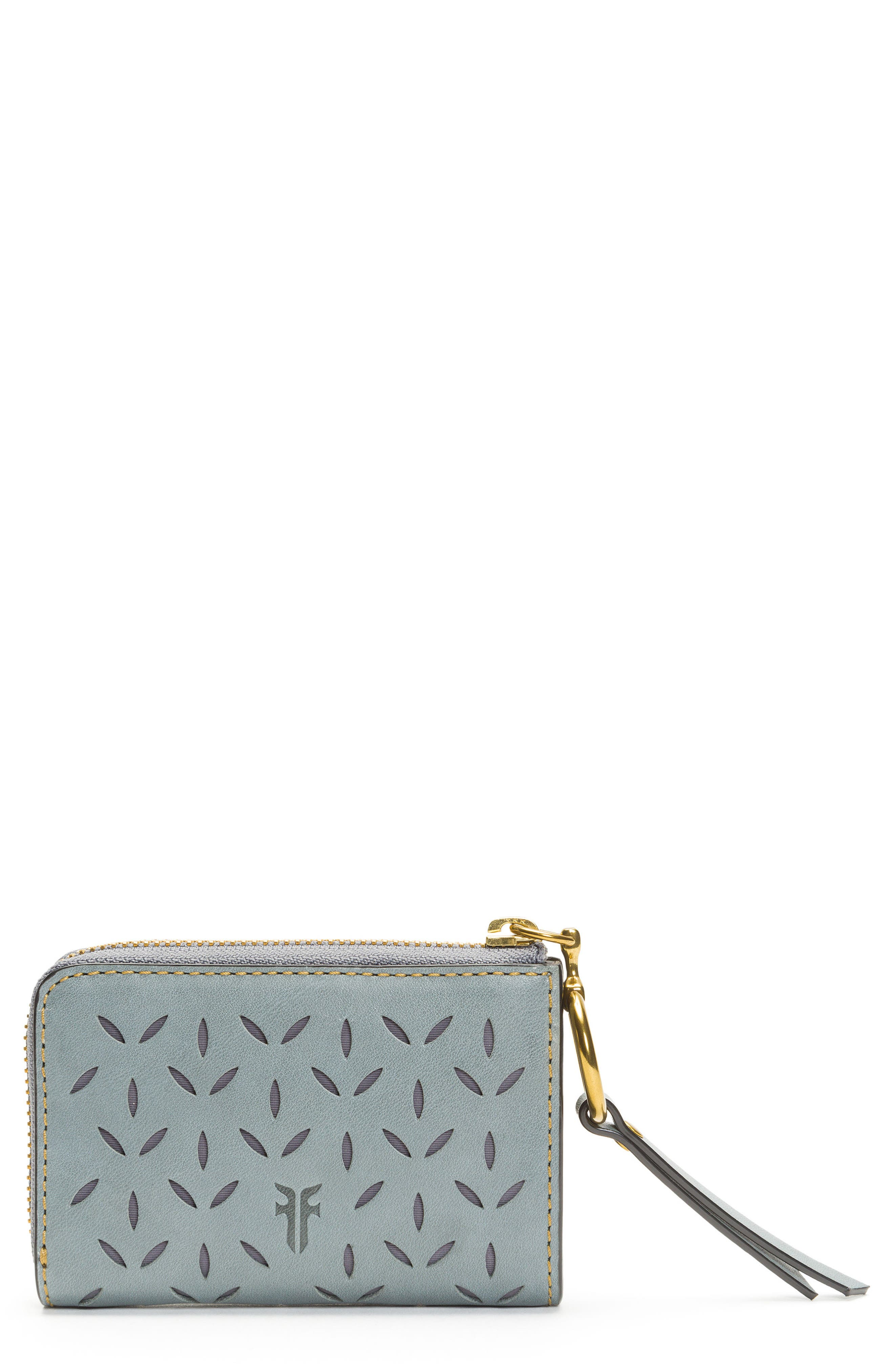 Frye Ilana Small Perforated Leather Zip Wallet