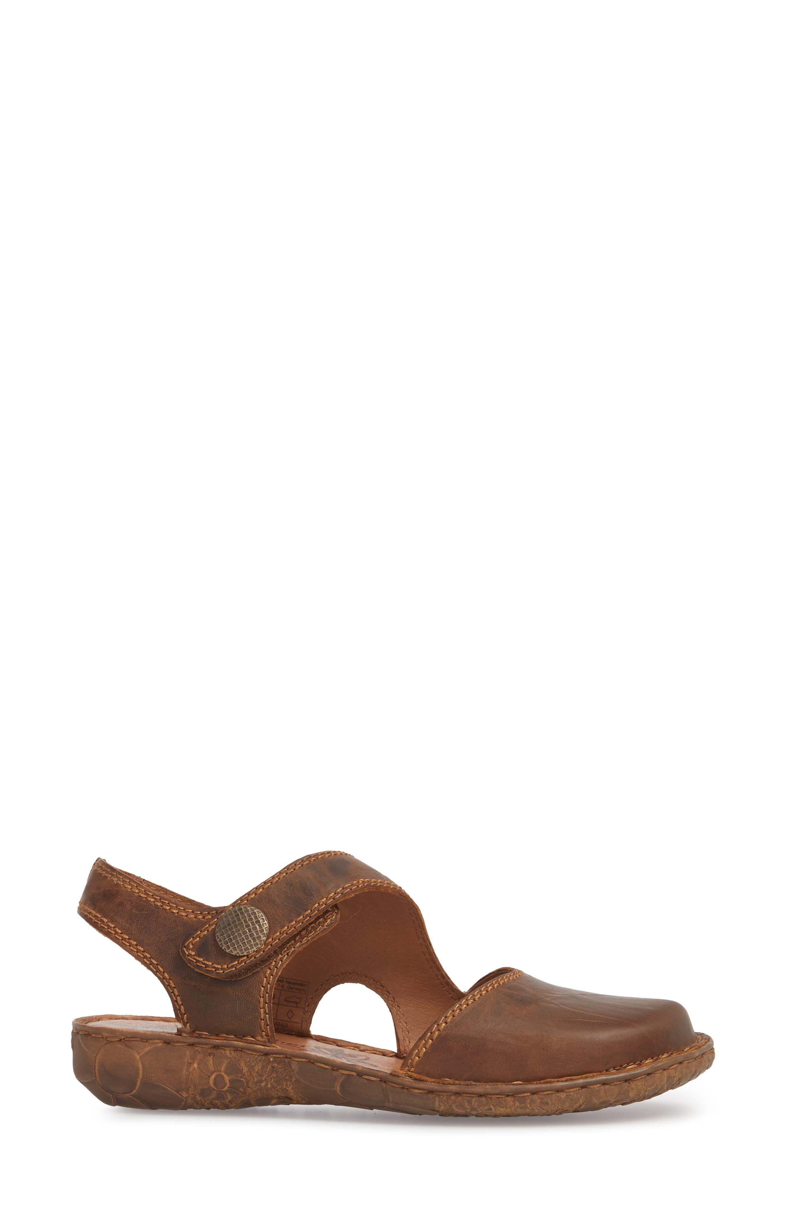 Rosalie 27 Sandal,                             Alternate thumbnail 3, color,                             Brandy Leather