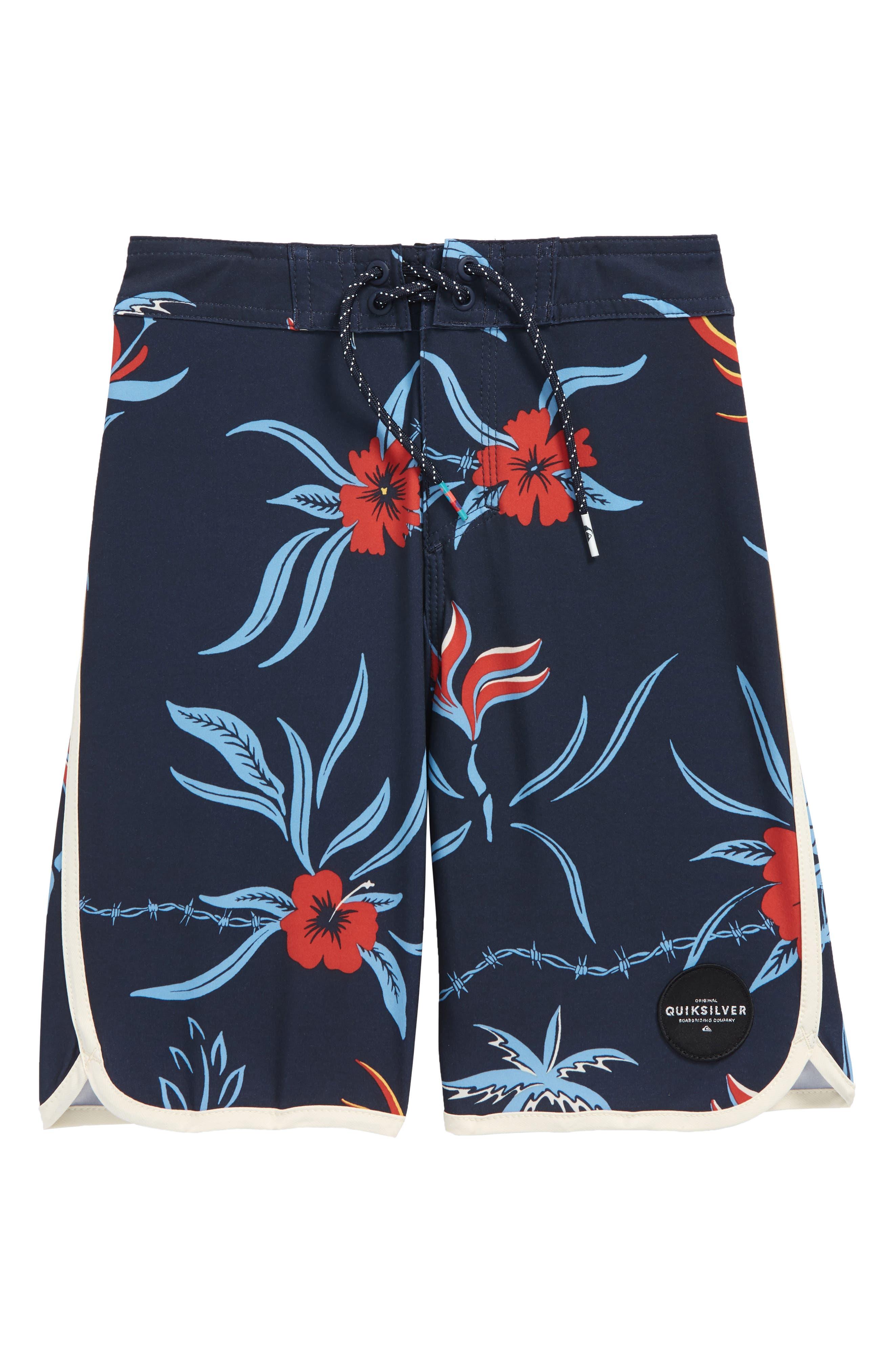 Highline Trespasser Board Shorts,                         Main,                         color, Navy Blazer