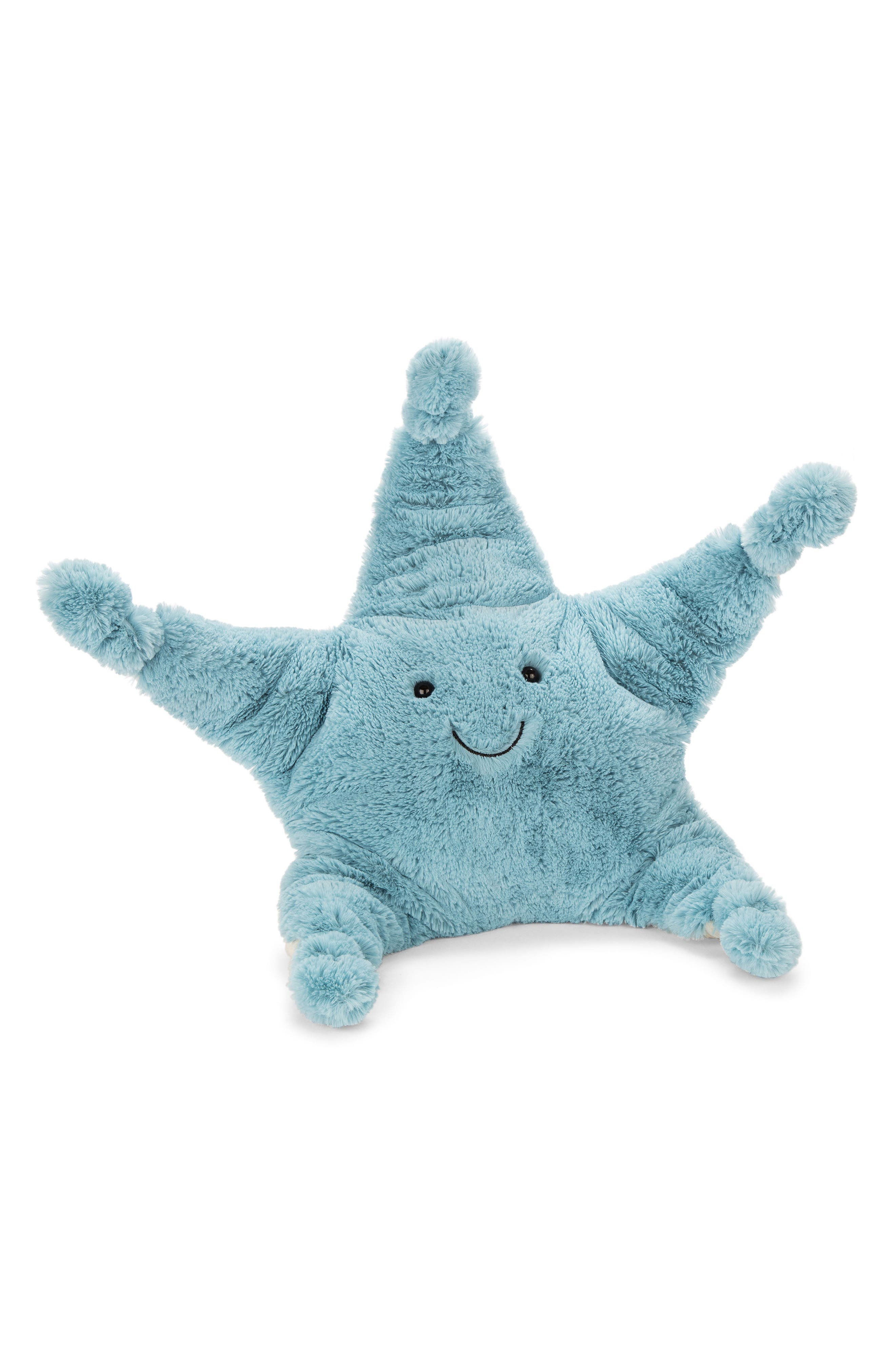 Skye Starfish Stuffed Animal,                             Main thumbnail 1, color,                             Blue