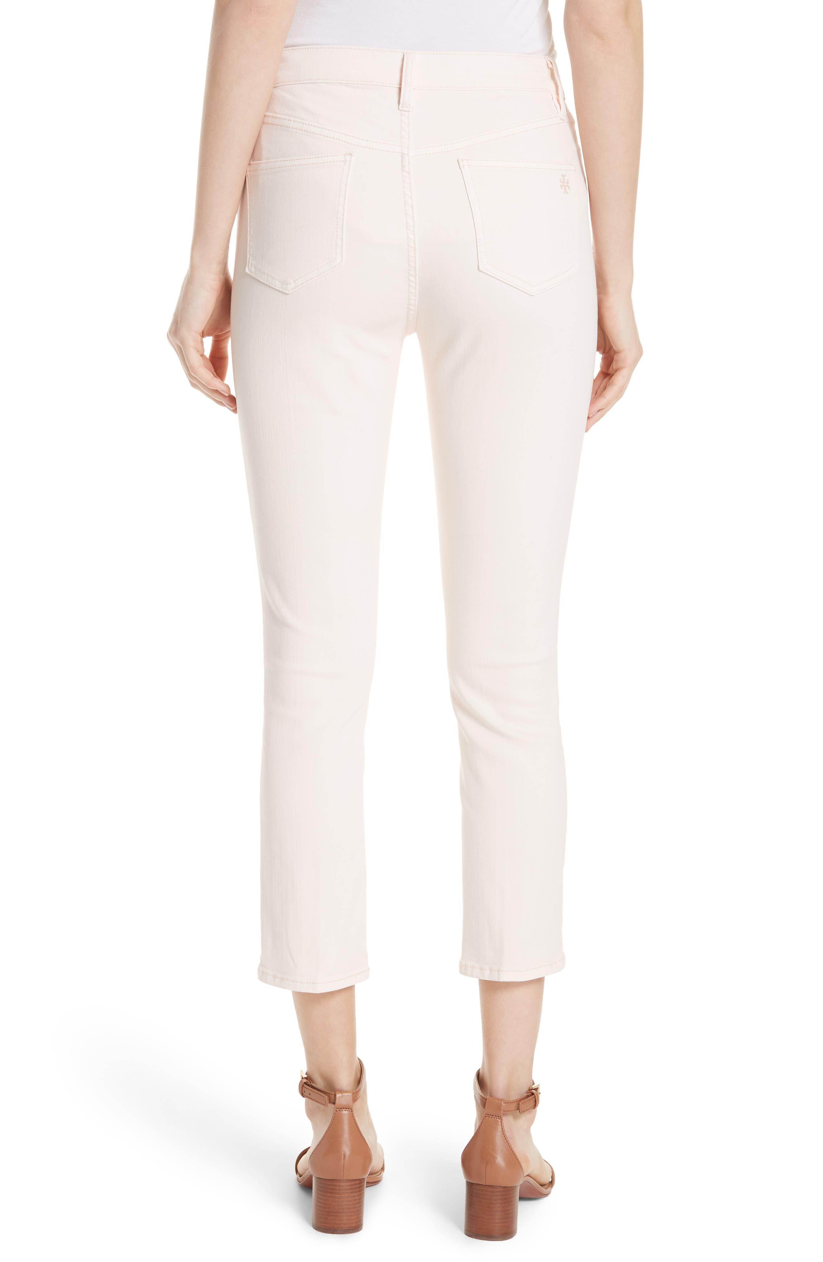 Mara Crop Skinny Jeans,                             Alternate thumbnail 2, color,                             Ballet Pink