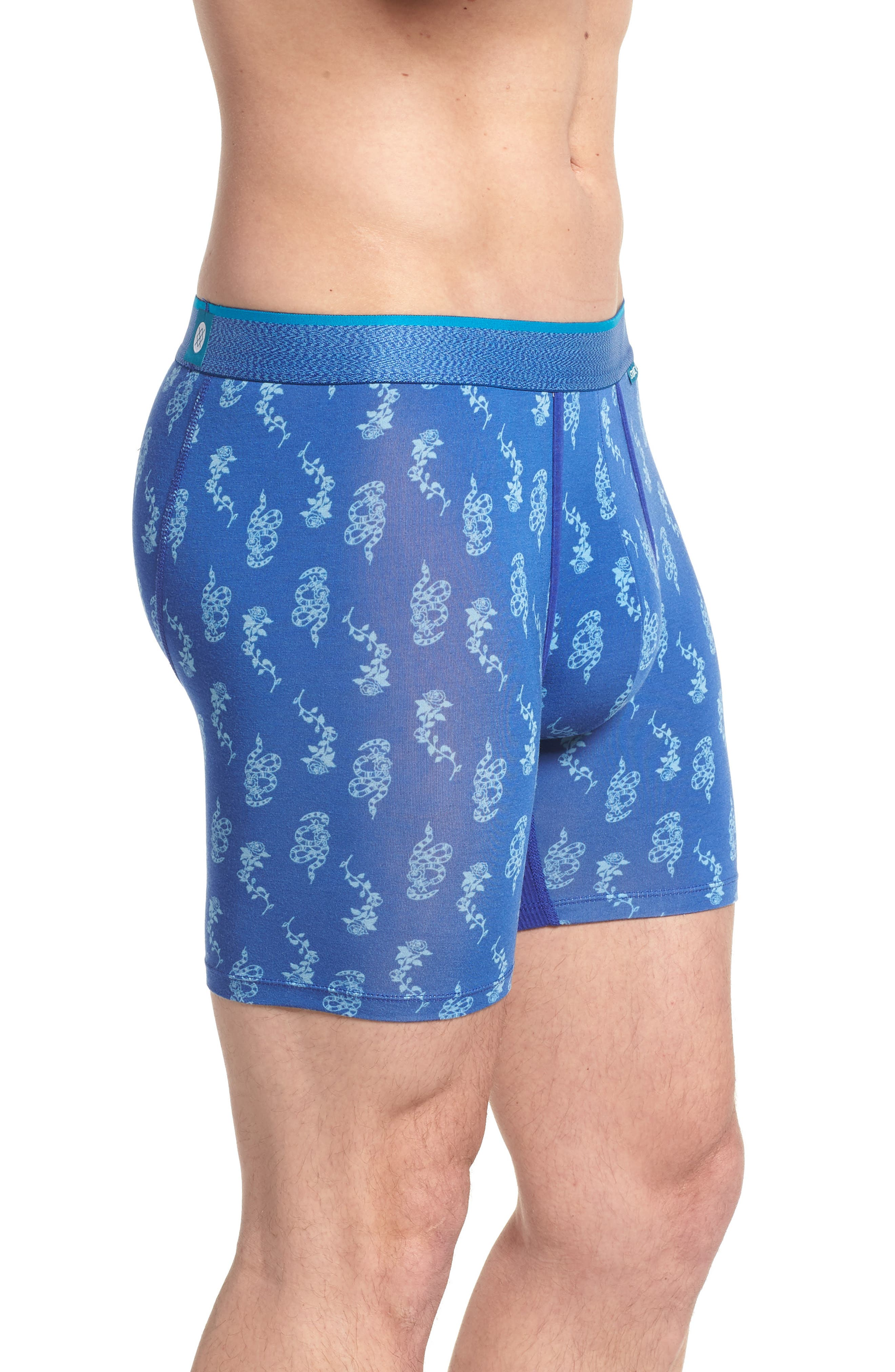 Snake Stamp Wholester Boxer Briefs,                             Alternate thumbnail 3, color,                             Blue