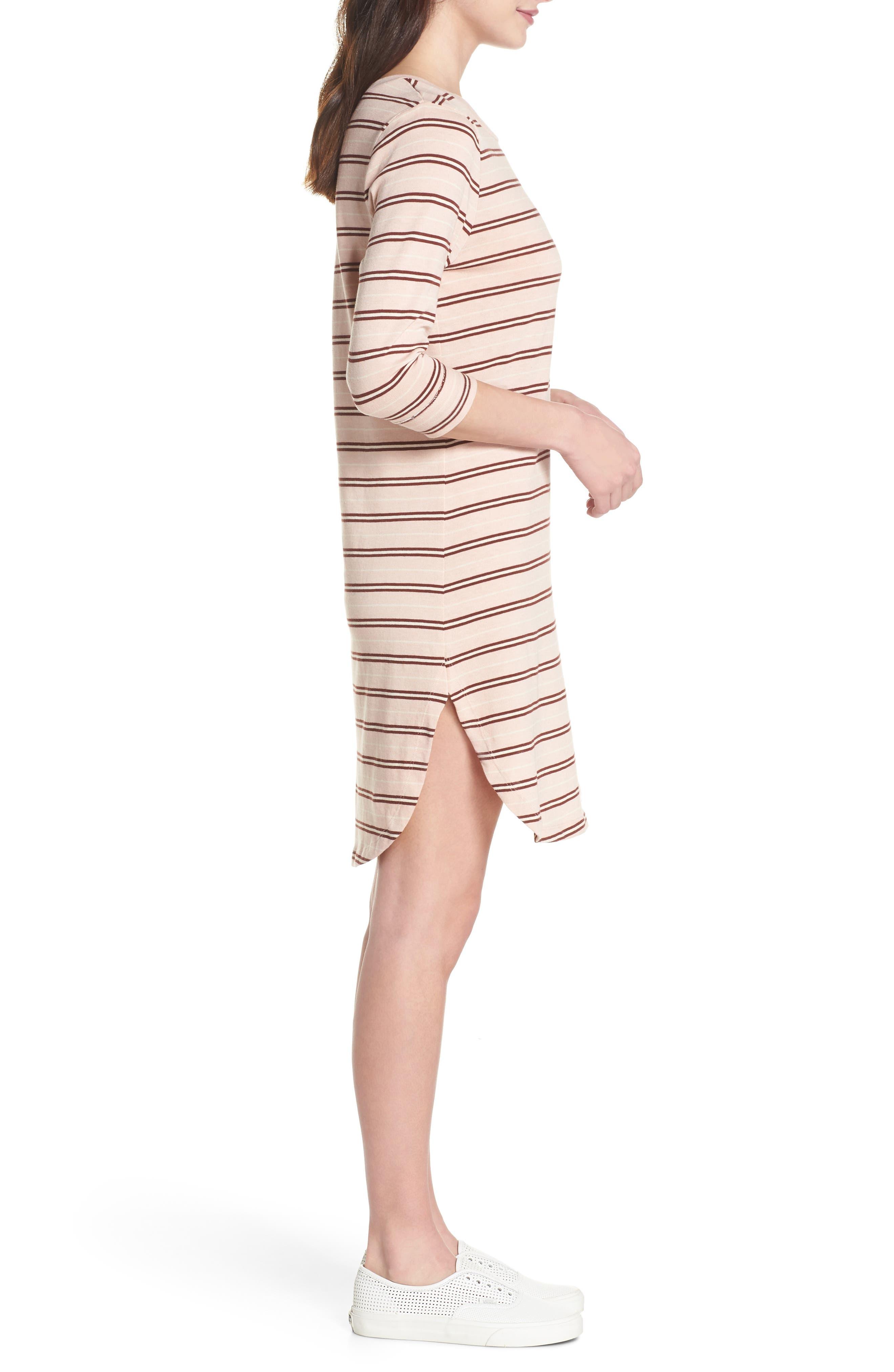 Saul Tunic Dress,                             Alternate thumbnail 3, color,                             Blush 90S Stripe