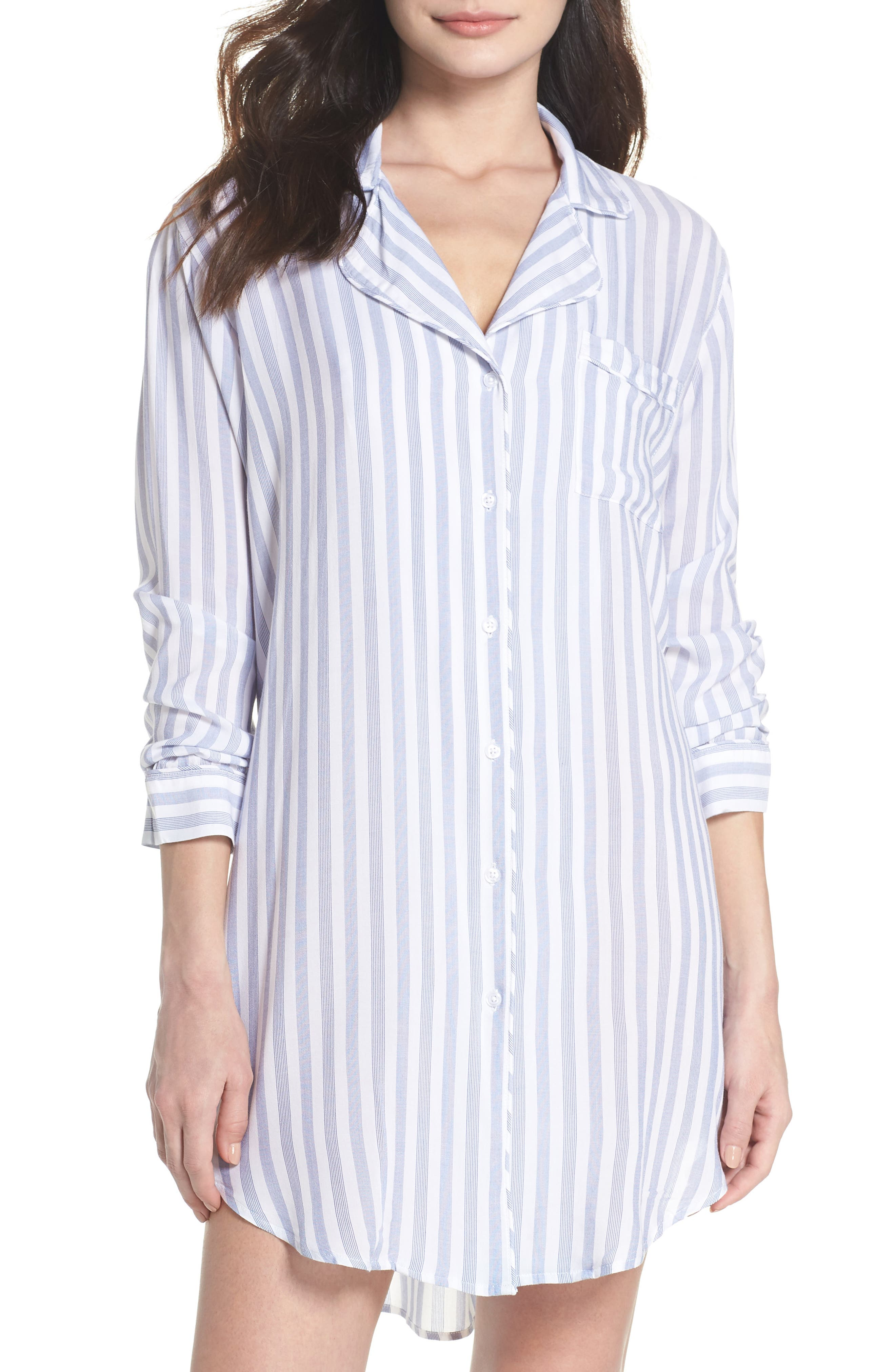 Stripe Nightshirt,                         Main,                         color, Bermuda Stripe