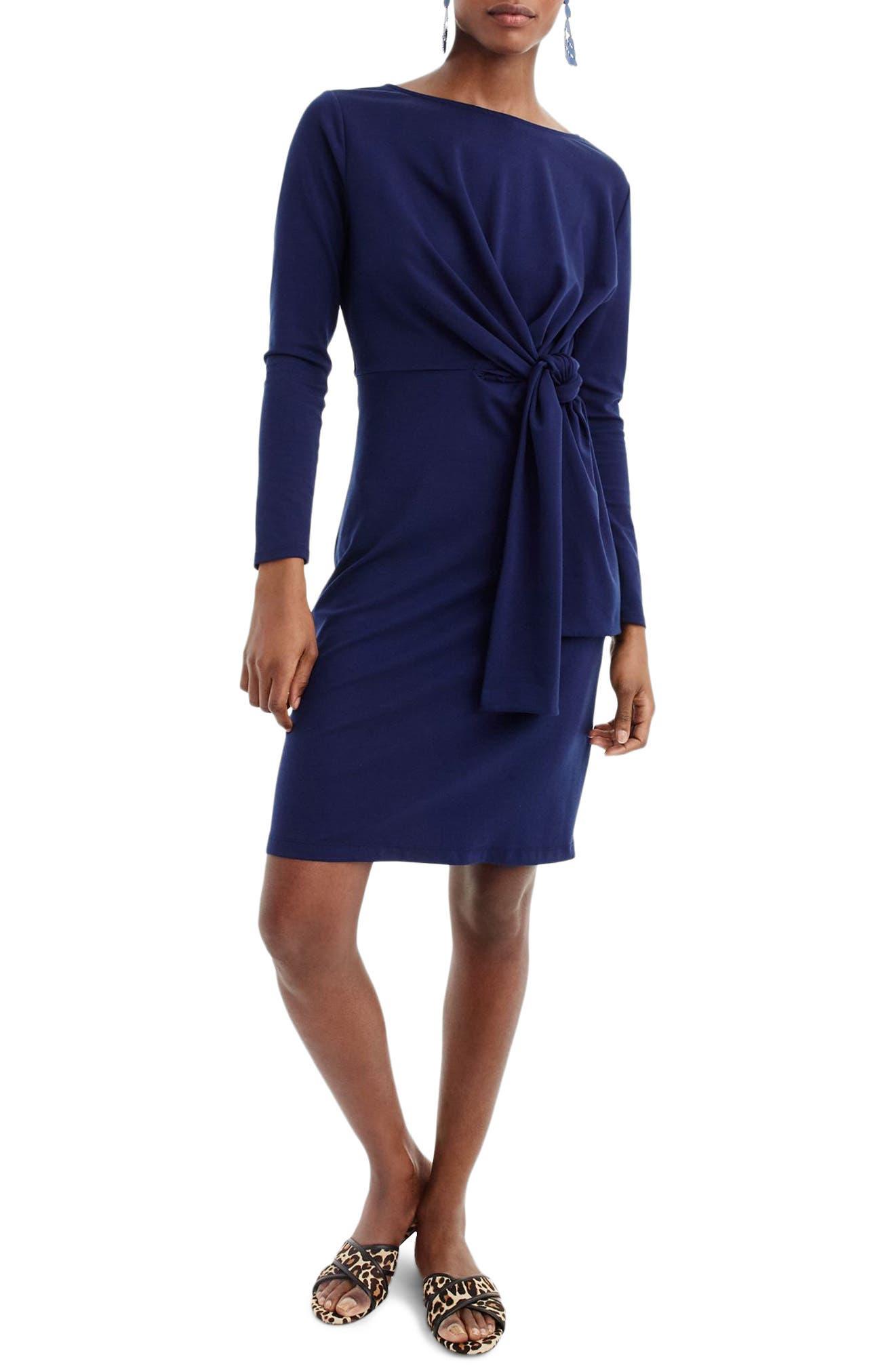 Drapey Tie Waist Dress,                         Main,                         color, Vivid Ink