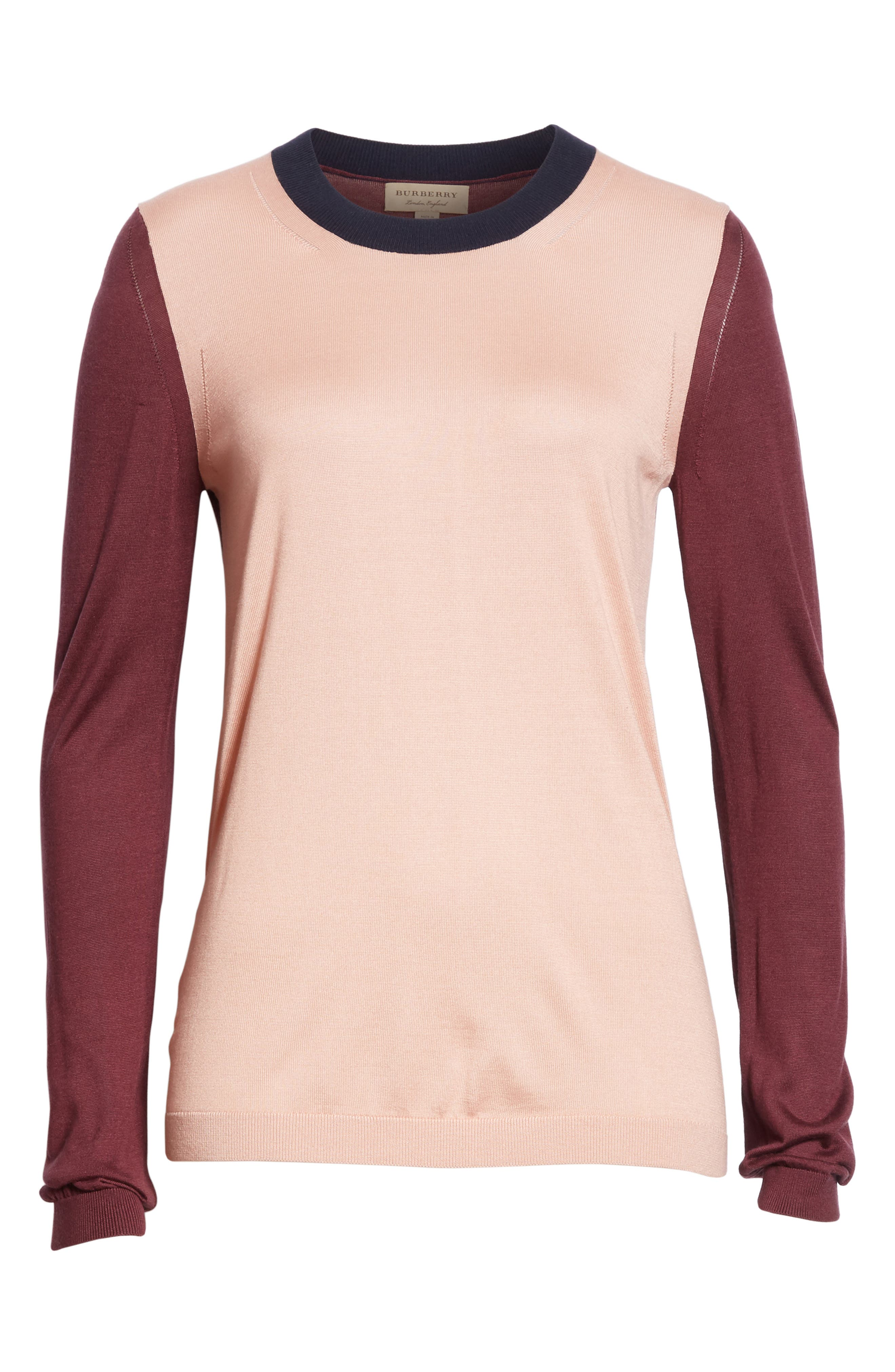 Buck 57 Silk & Cashmere Sweater,                             Alternate thumbnail 6, color,                             Pink Apricot