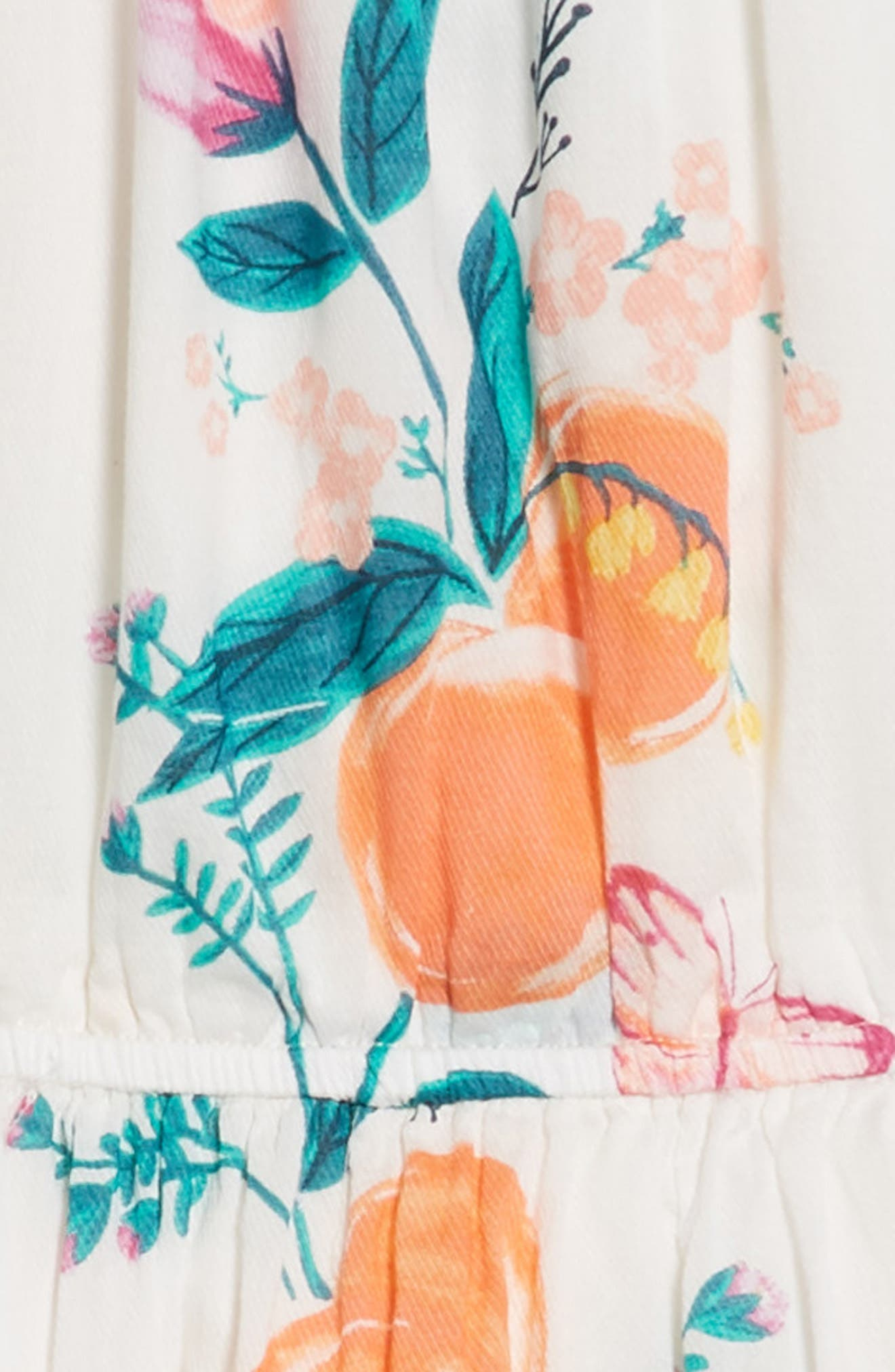 Peach Flower Dress,                             Alternate thumbnail 3, color,                             Georgia Peach