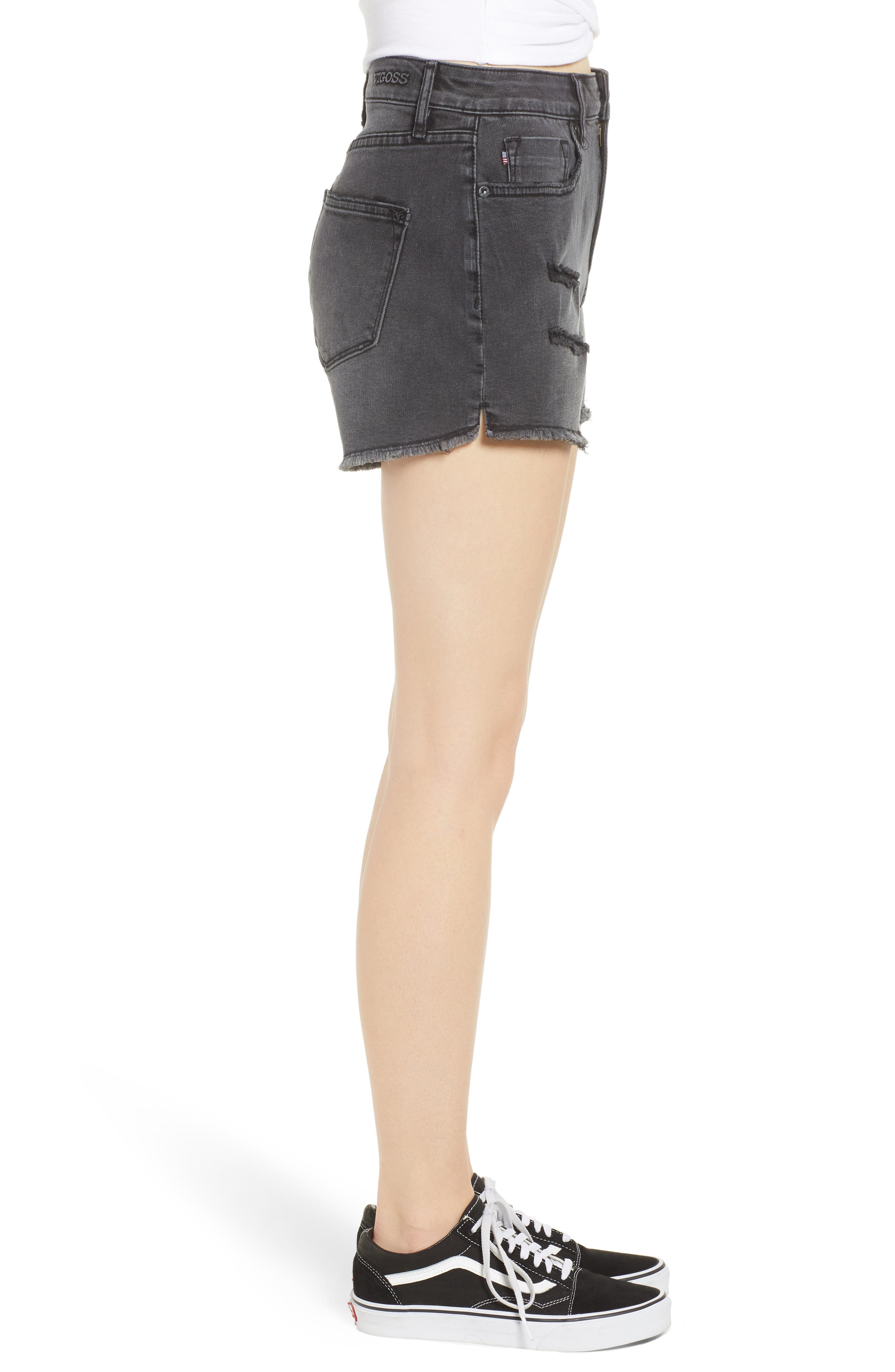 Alternate Image 3  - Vigoss Jagger High Waist Denim Shorts