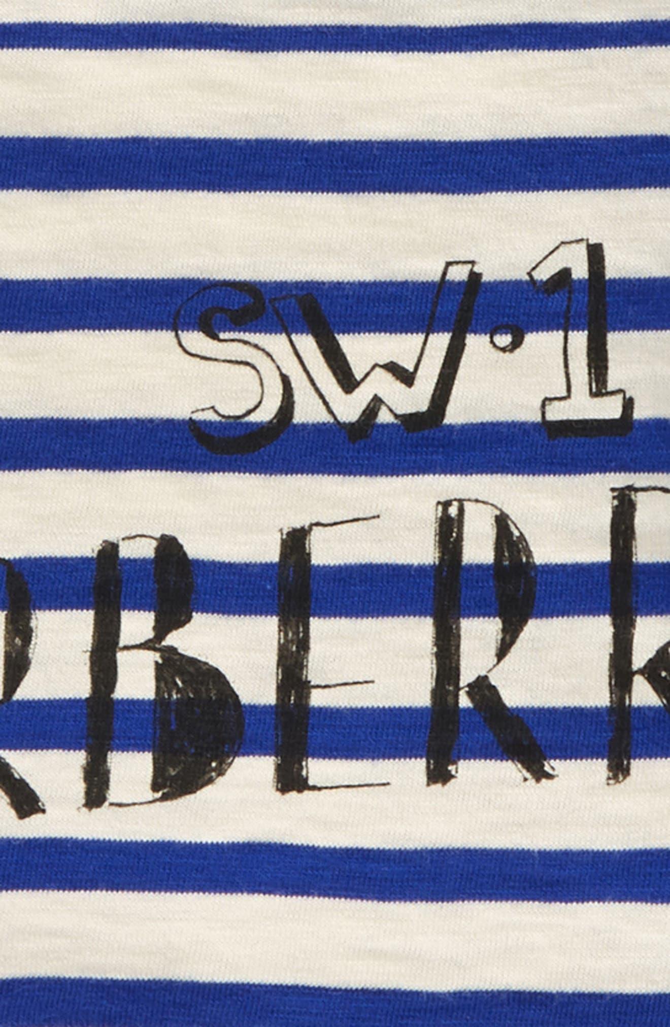 Stripe T-Shirt,                             Alternate thumbnail 2, color,                             Bright Lapis/ White