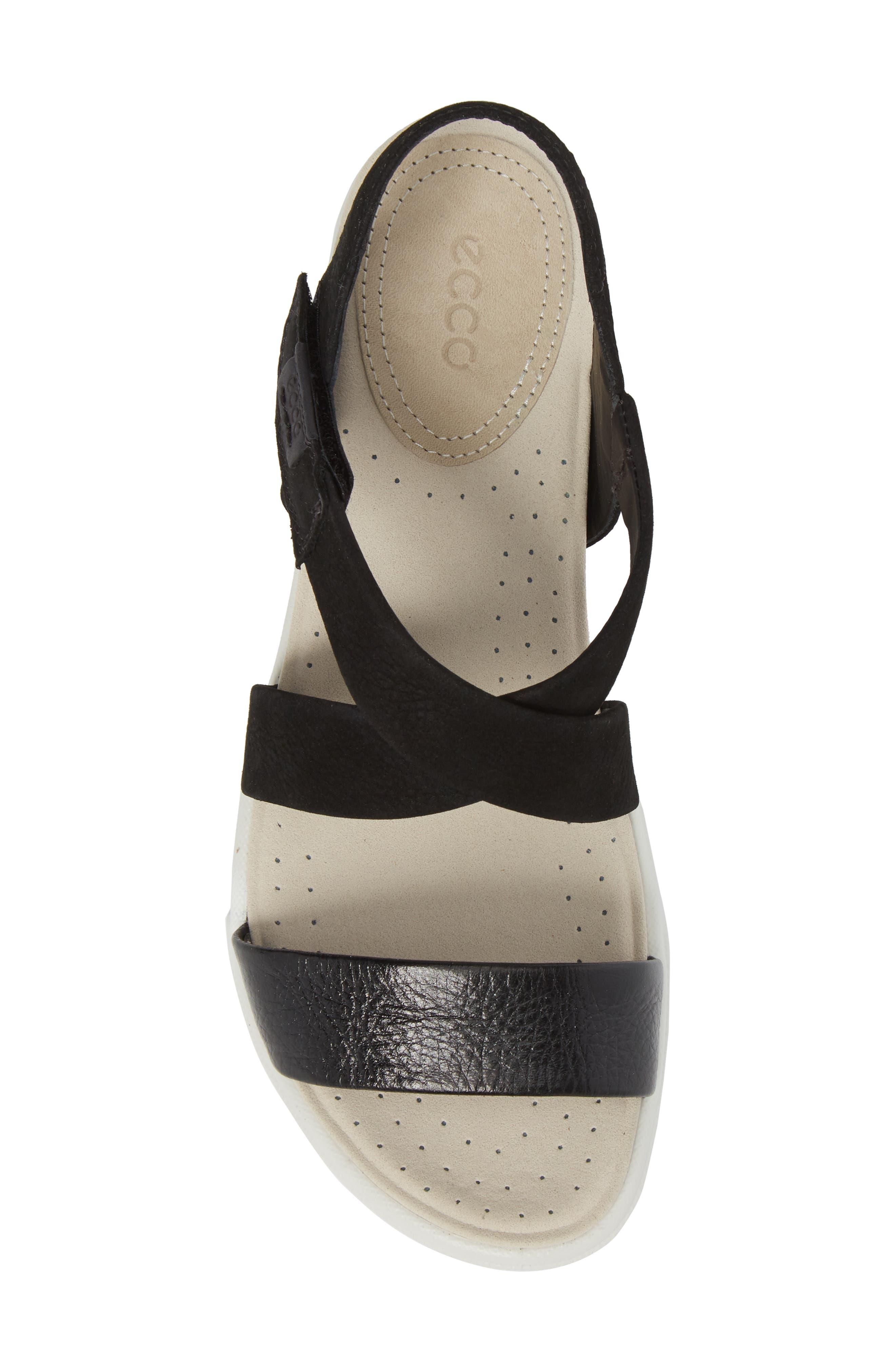 Damara Cross-Strap Sandal,                             Alternate thumbnail 5, color,                             Black Leather