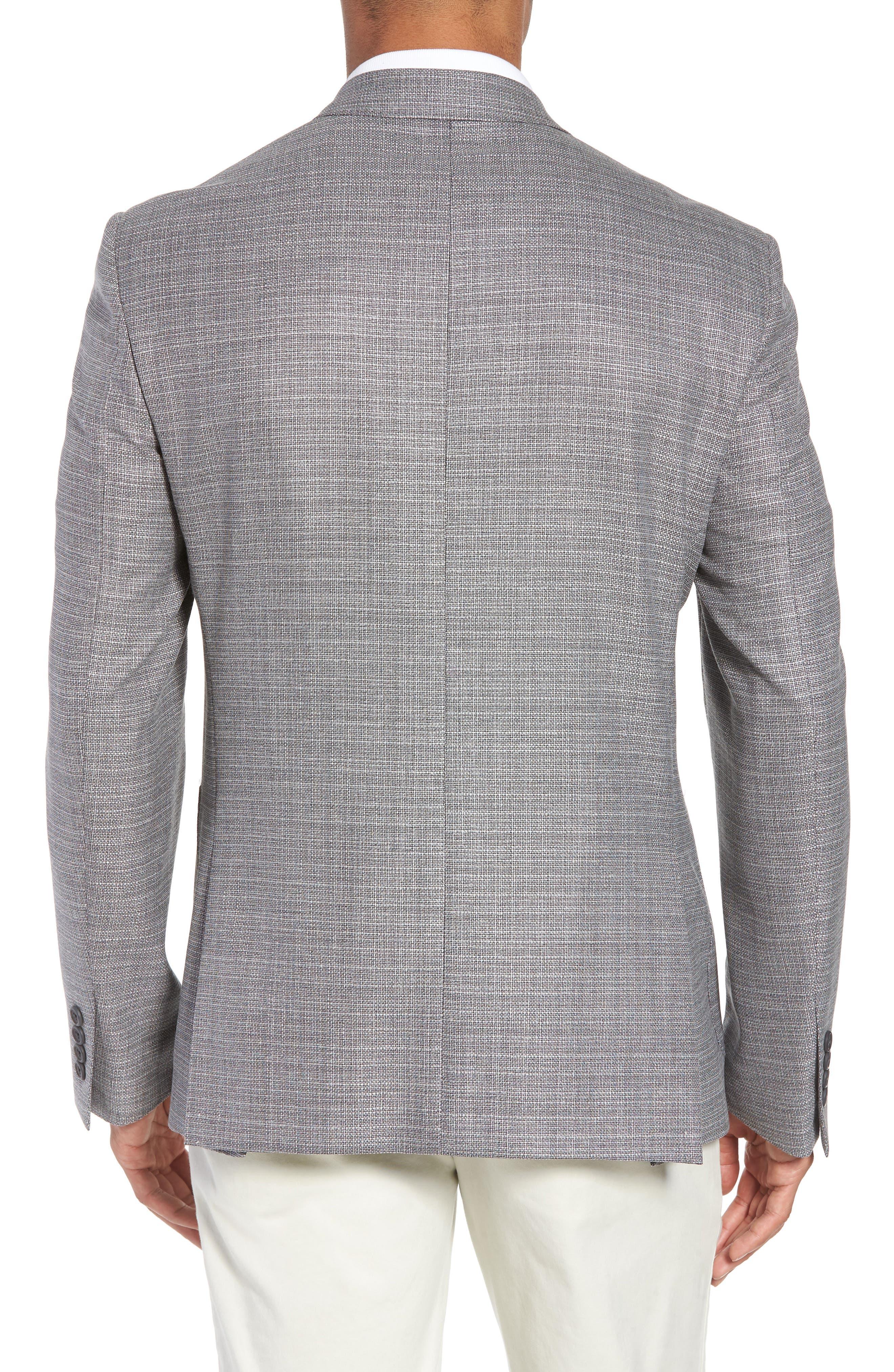 Trim Fit Wool Blazer,                             Alternate thumbnail 2, color,                             Silver