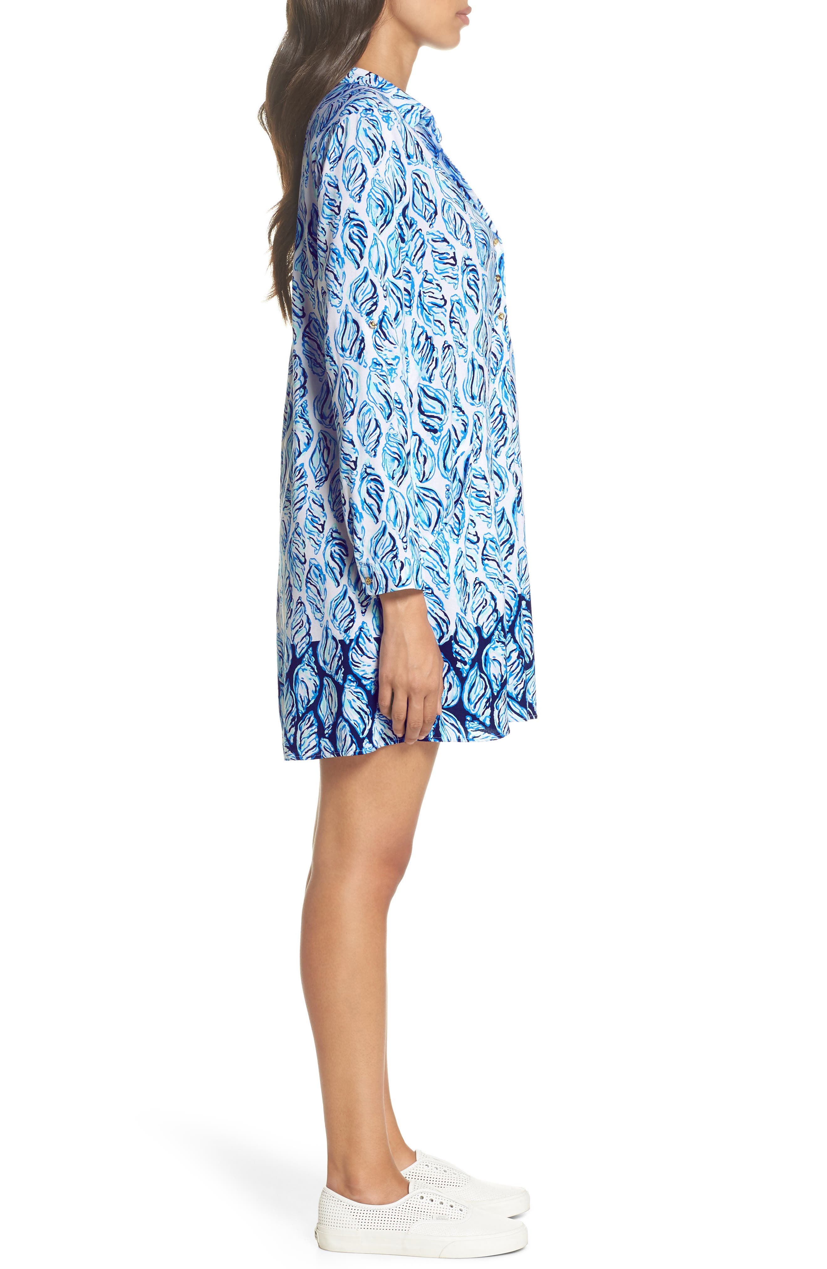 Lillith Shirtdress,                             Alternate thumbnail 3, color,                             Resort White Drop In