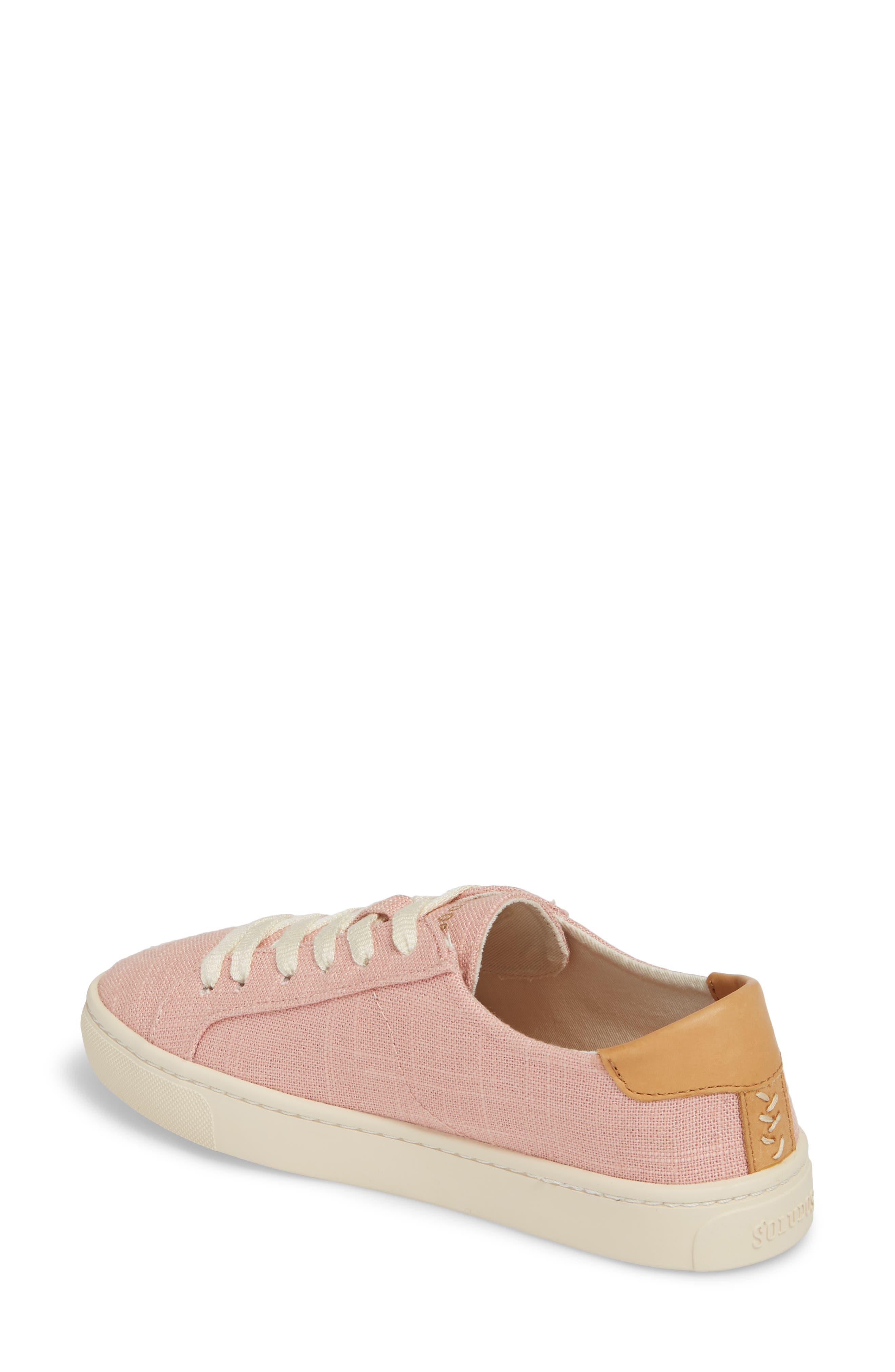Ibiza Sneaker,                             Alternate thumbnail 2, color,                             Dusty Rose Fabric