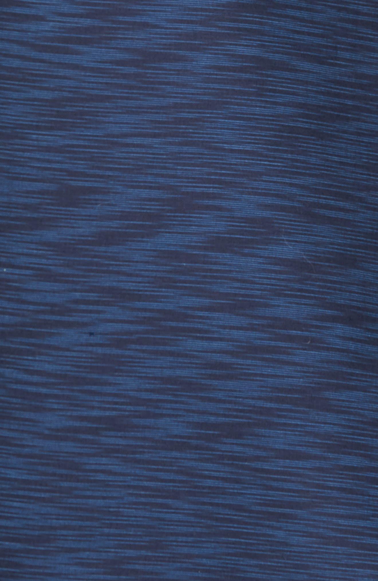 Trim Fit Solid Sport Shirt,                             Alternate thumbnail 5, color,                             Navy Blue Space Dye