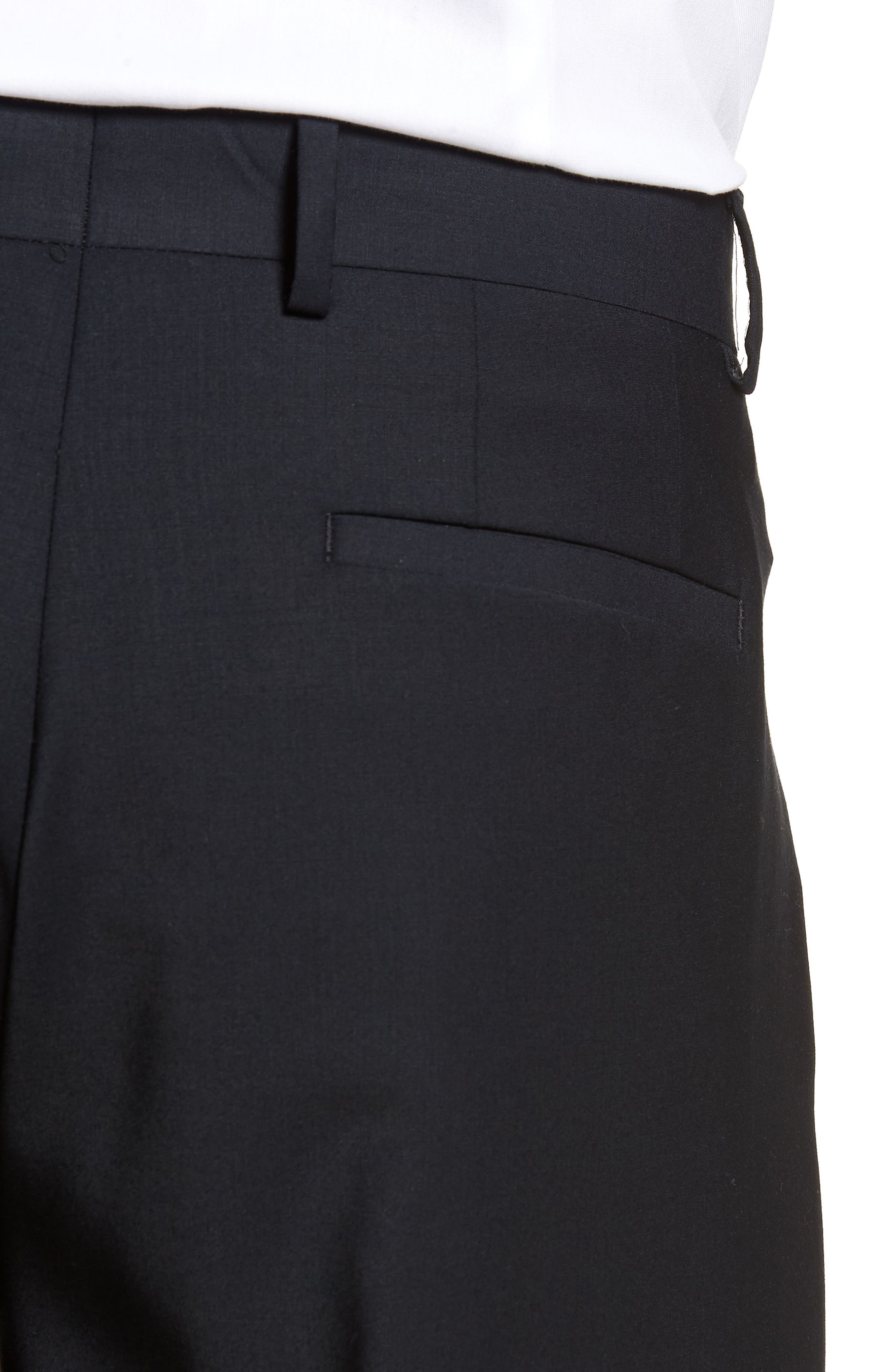 Alternate Image 4  - Eleventy Pleat Front Stretch Solid Wool Trousers