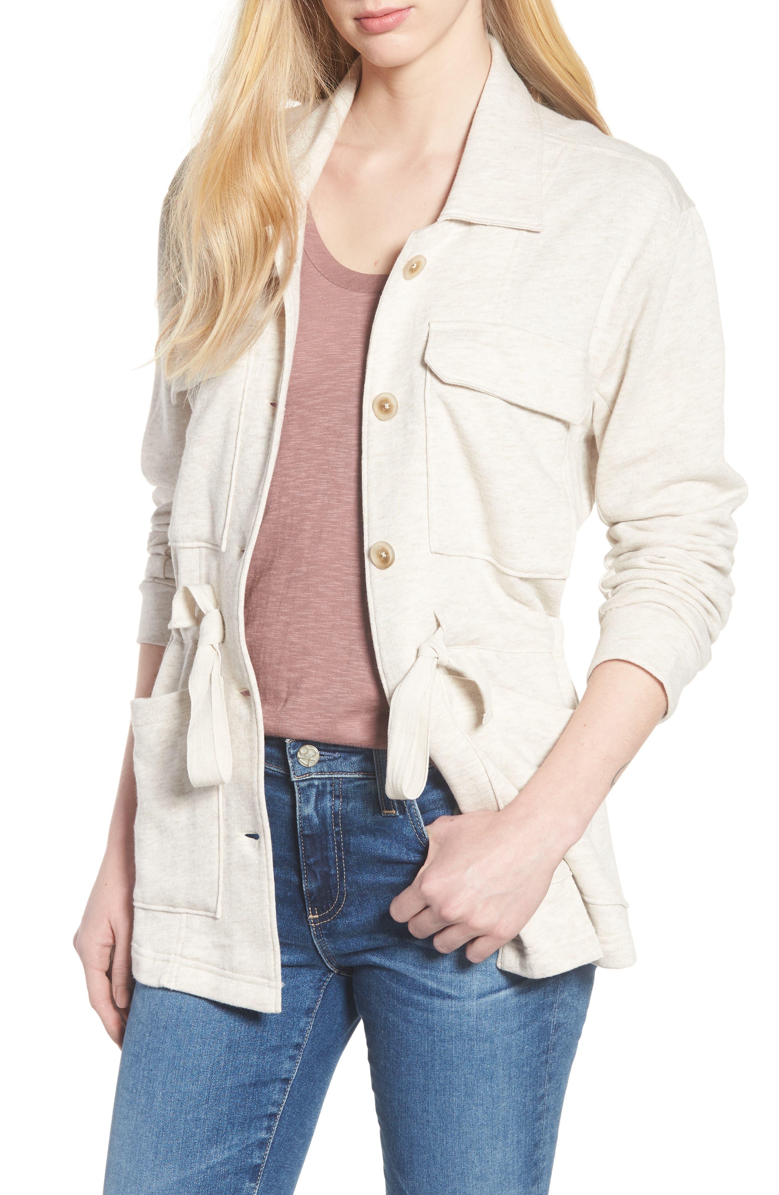 Caslon® Knit Utility Jacket (Regular & Petite)