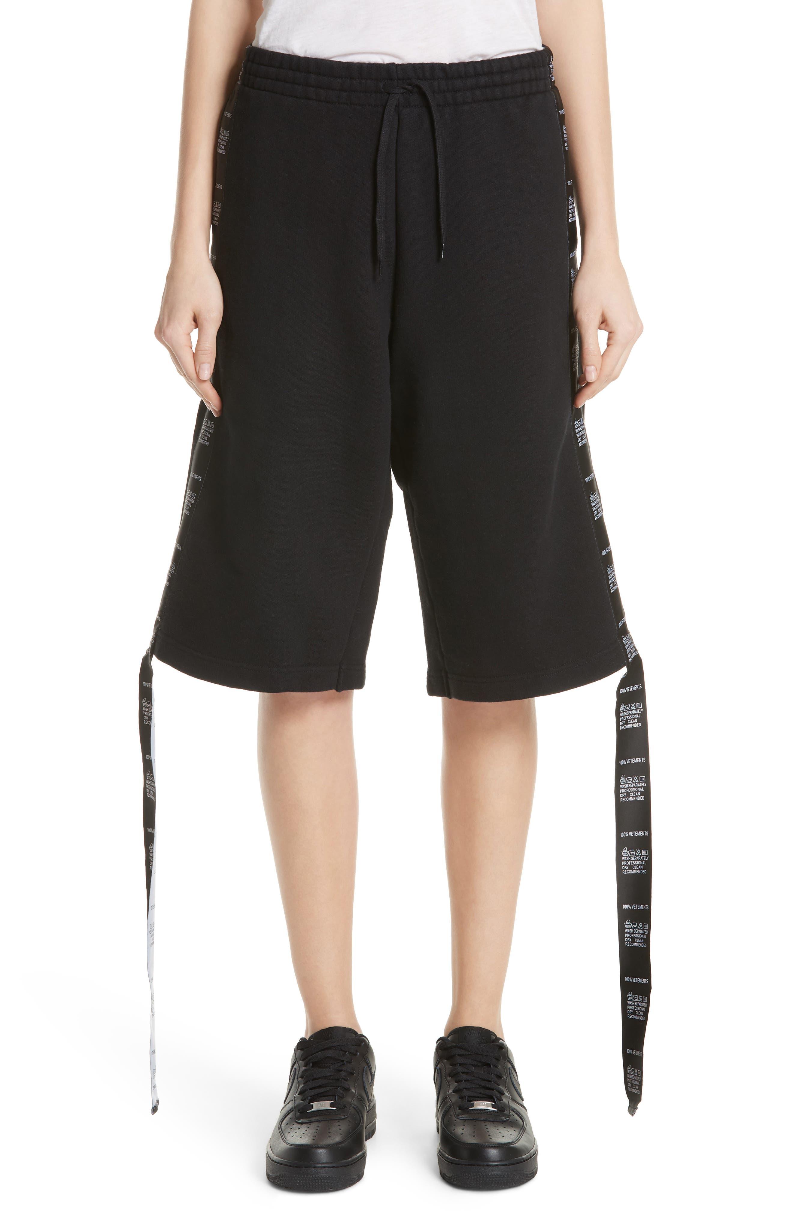Tape Shorts,                         Main,                         color, Black