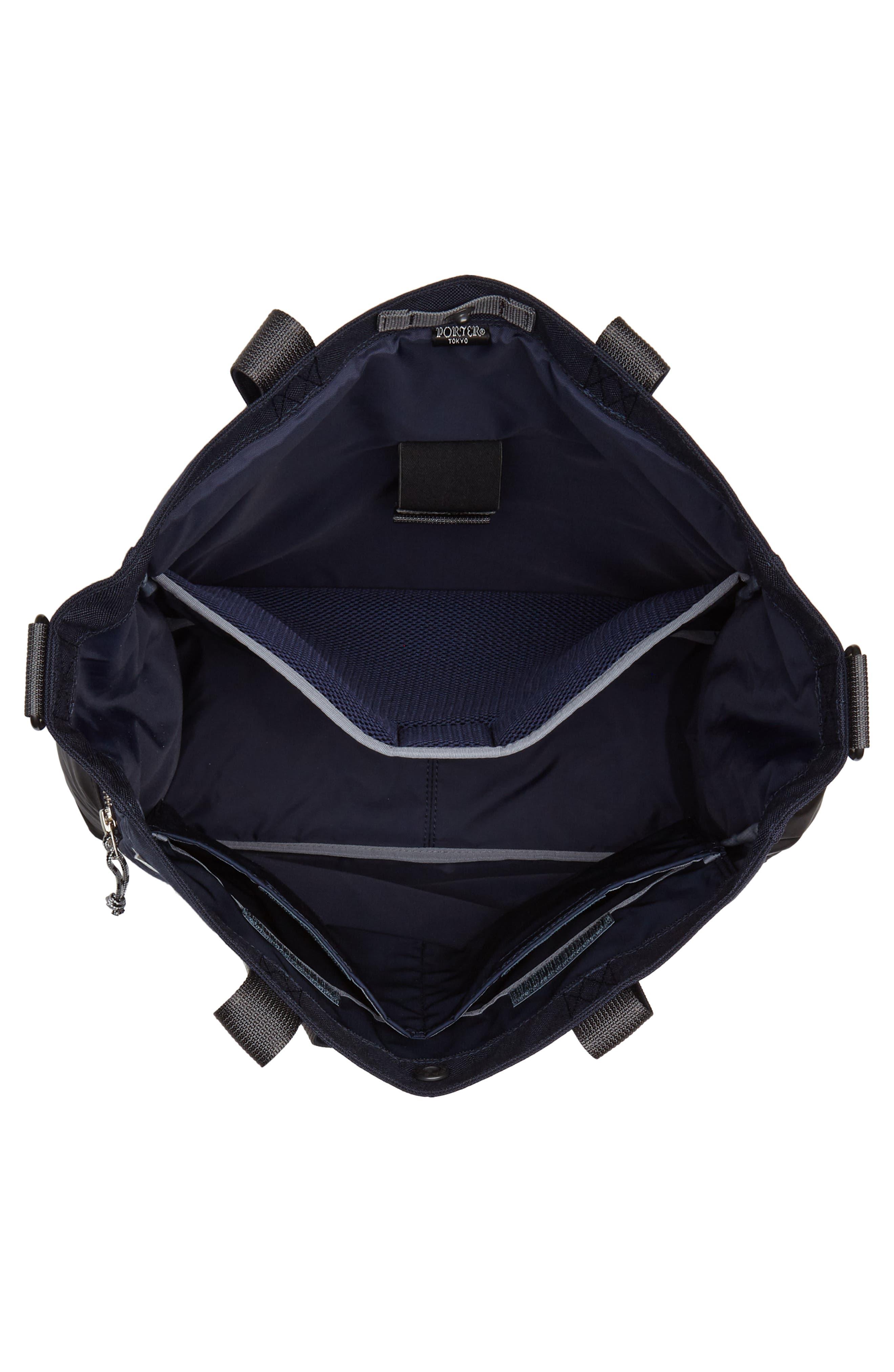Porter-Yoshida & Co. Hype Tote Bag,                             Alternate thumbnail 4, color,                             Navy/ Black
