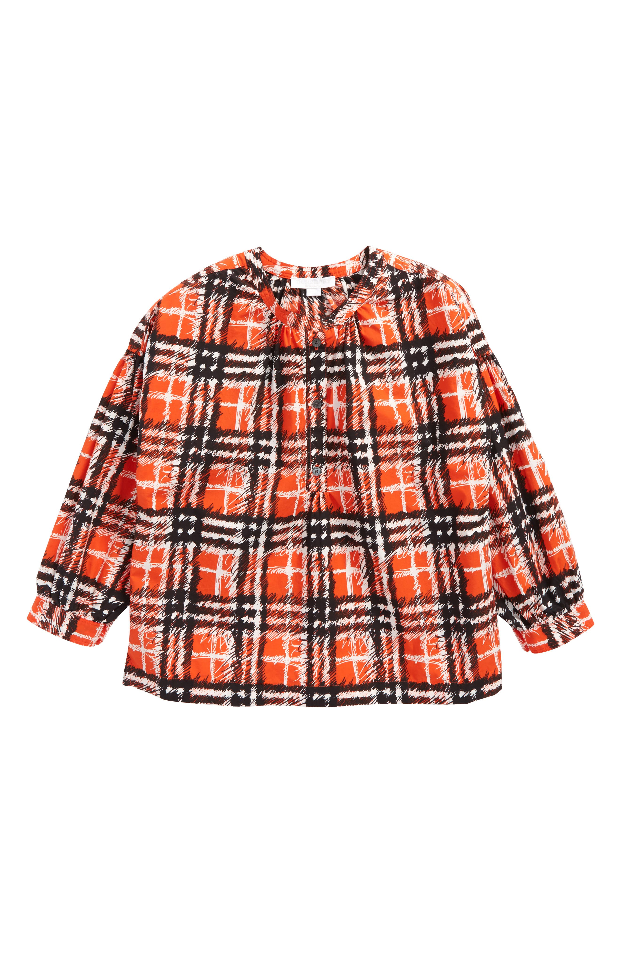Alternate Image 1 Selected - Burberry Lola Scribble Check Tunic (Toddler Girls)