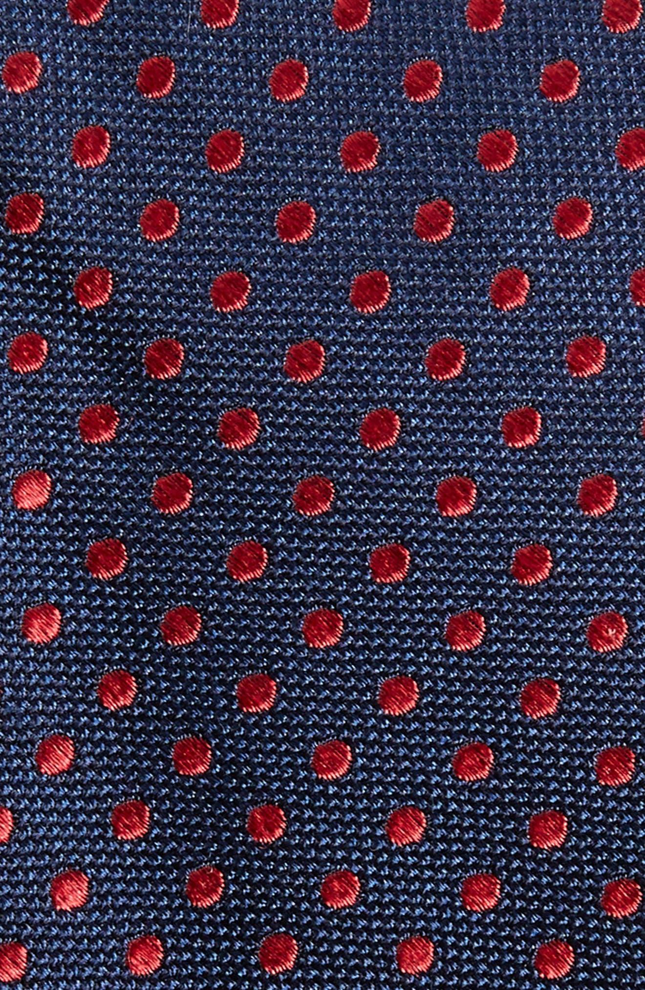 Norton Dot Silk Tie,                             Alternate thumbnail 2, color,                             True Navy