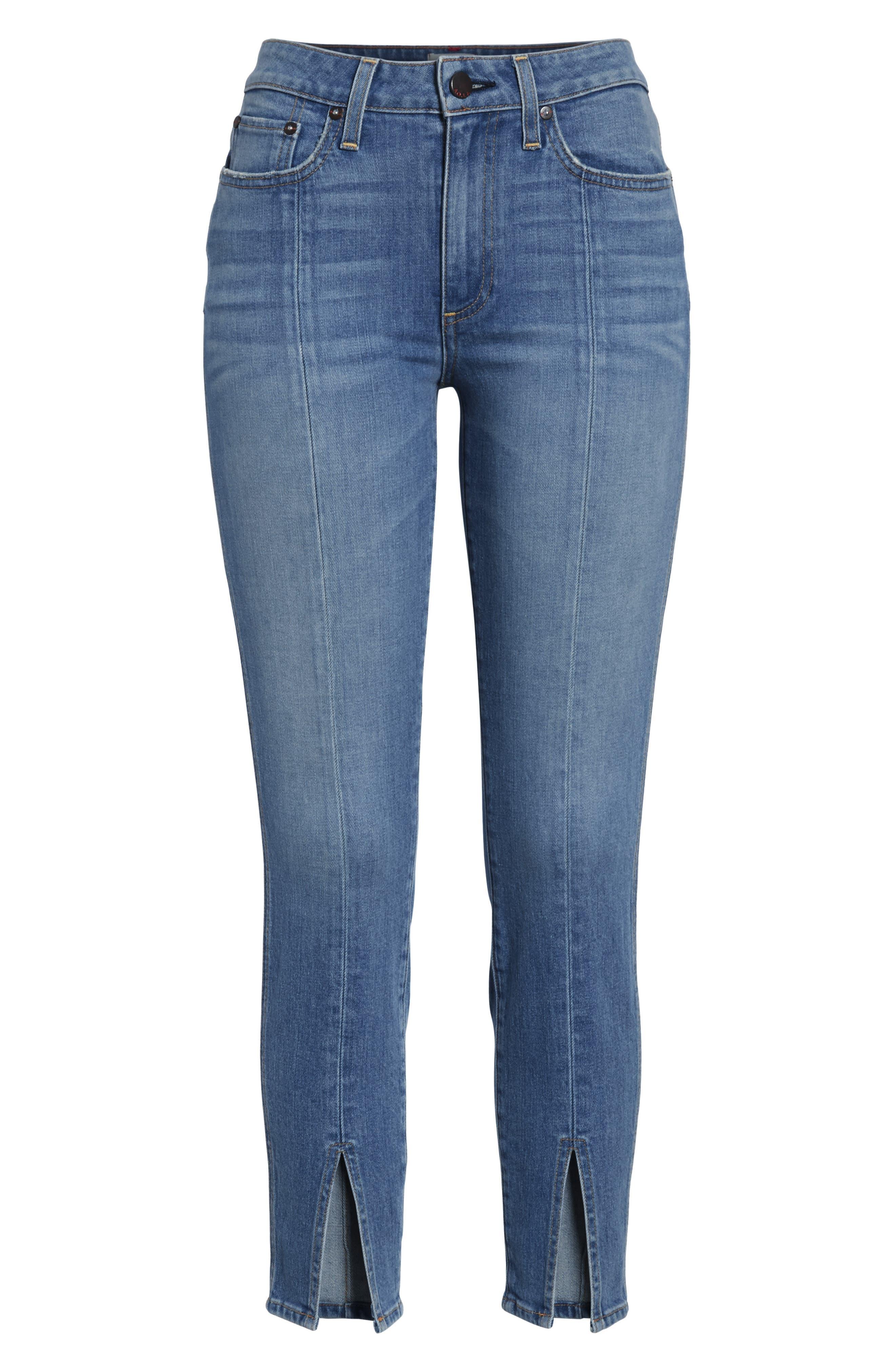 AO.LA Good Ankle Skinny Jeans,                             Alternate thumbnail 6, color,                             Sweet Emotion