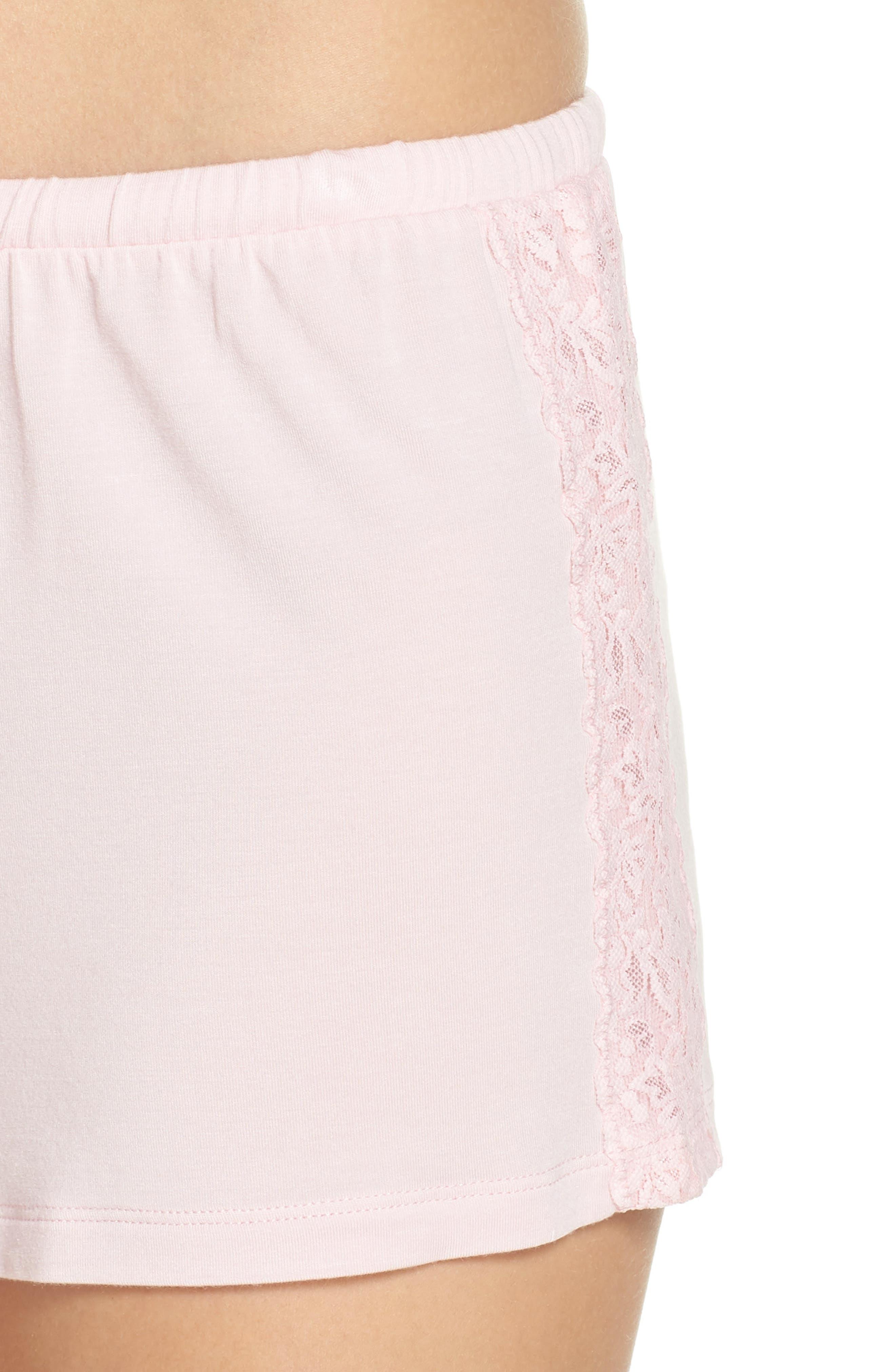 Pajama Shorts,                             Alternate thumbnail 6, color,                             Pink