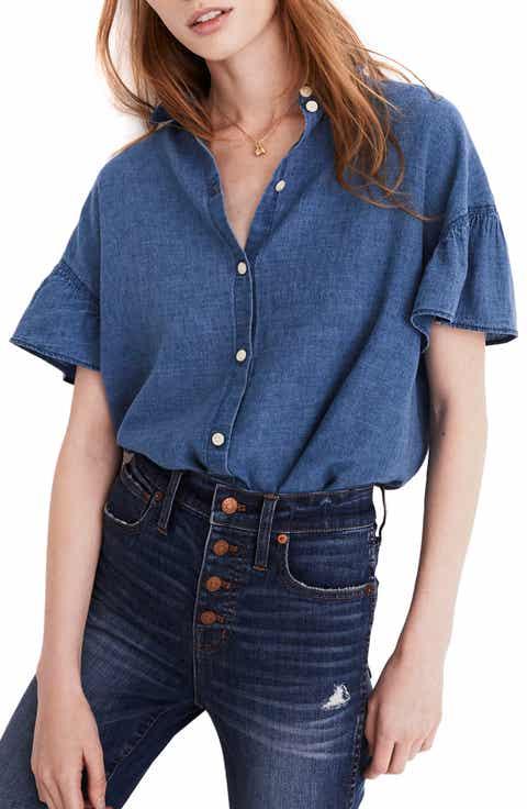 Madewell Central Ruffle Sleeve Shirt