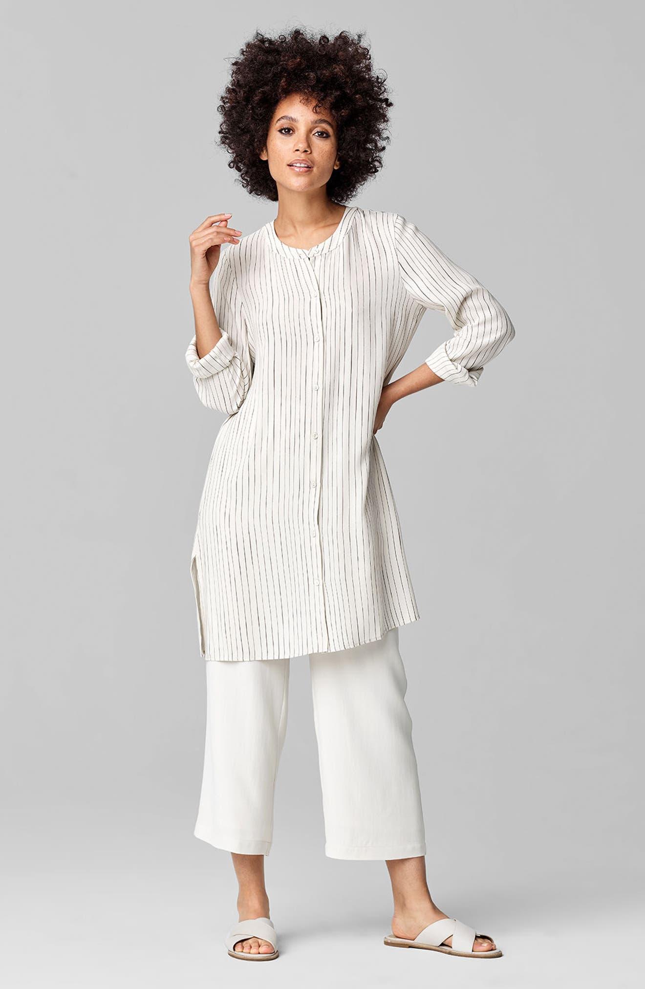 Alternate Image 9  - Eileen Fisher Silk Crop Pants (Regular & Petite)