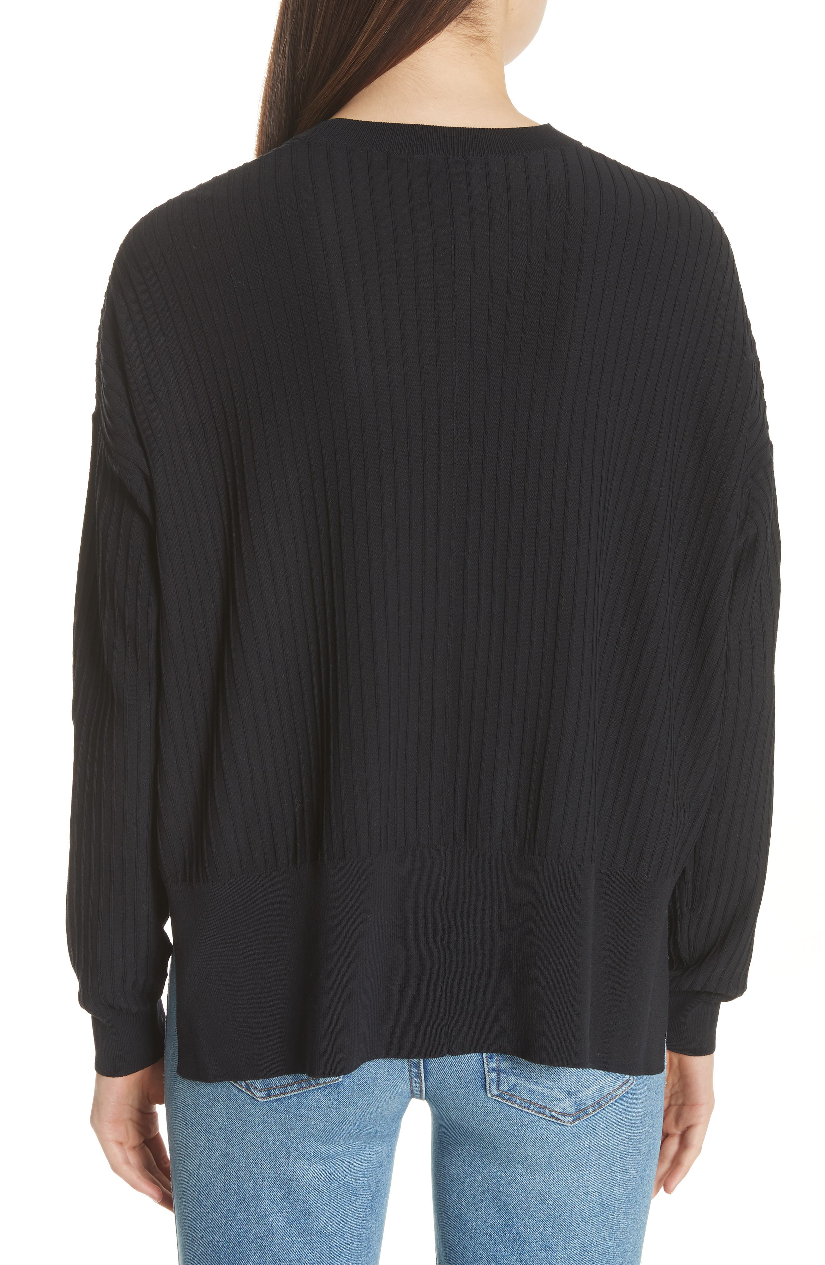 Issy Ribbed Sweater,                             Alternate thumbnail 2, color,                             Black