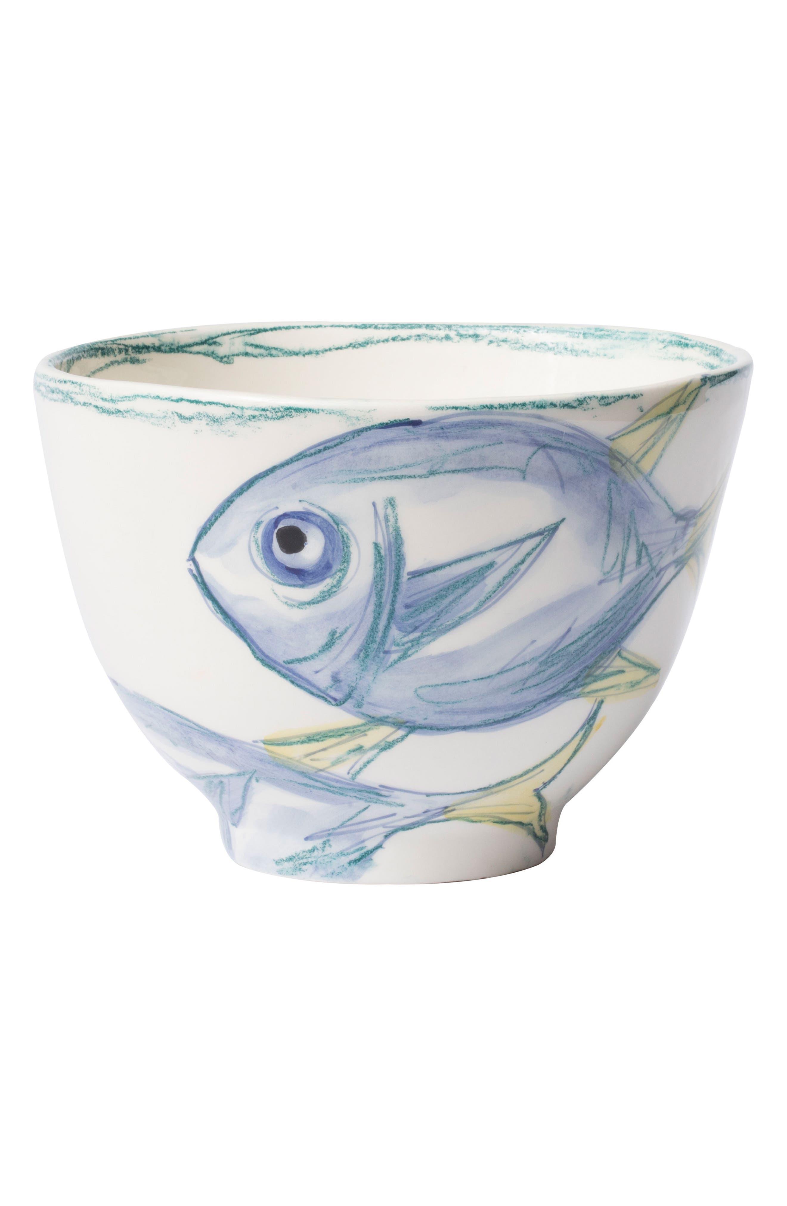 Pescatore Deep Serving Bowl,                             Main thumbnail 1, color,                             White