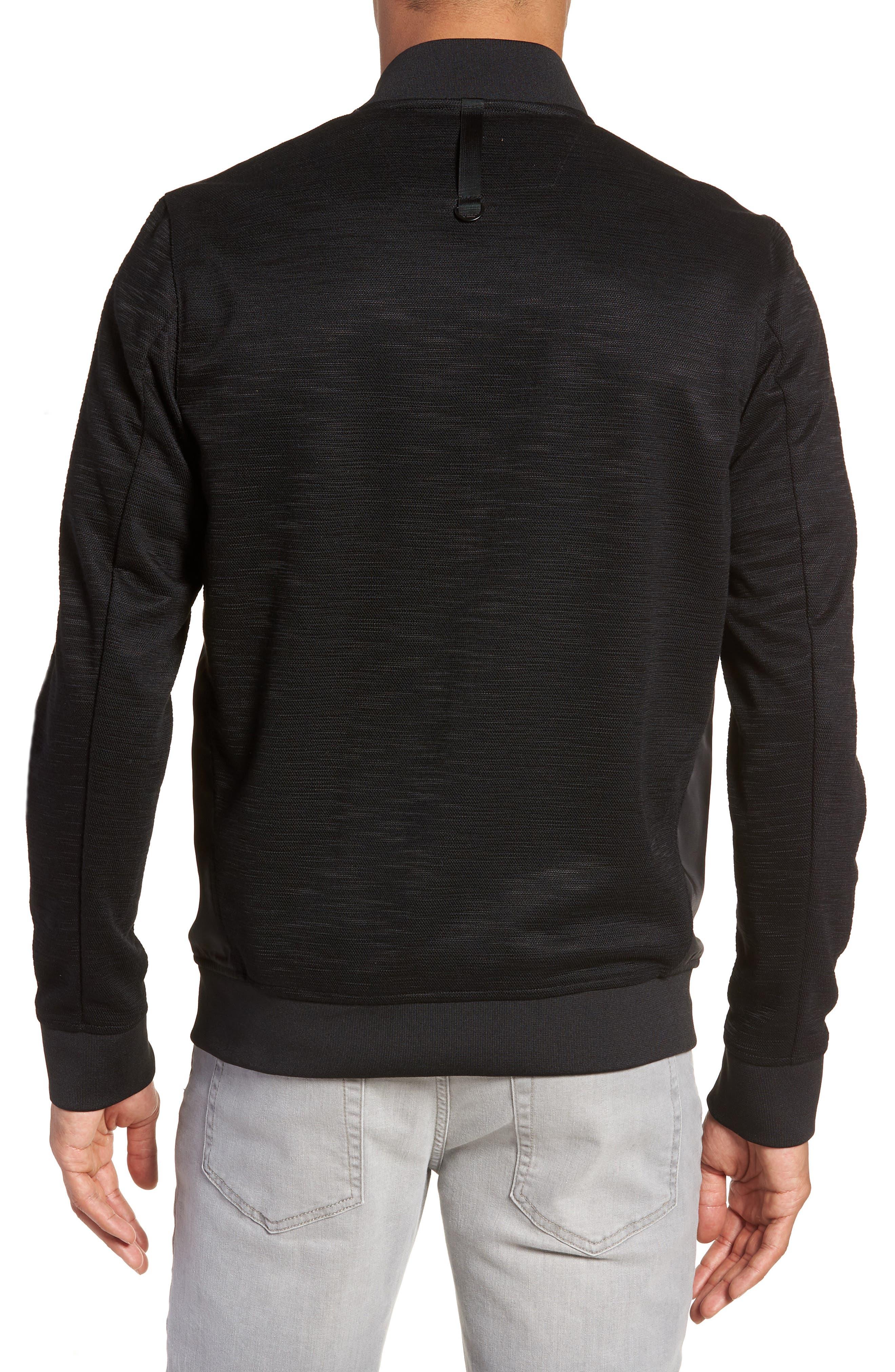 Gesso Slim Fit Bomber Jacket,                             Alternate thumbnail 2, color,                             Black