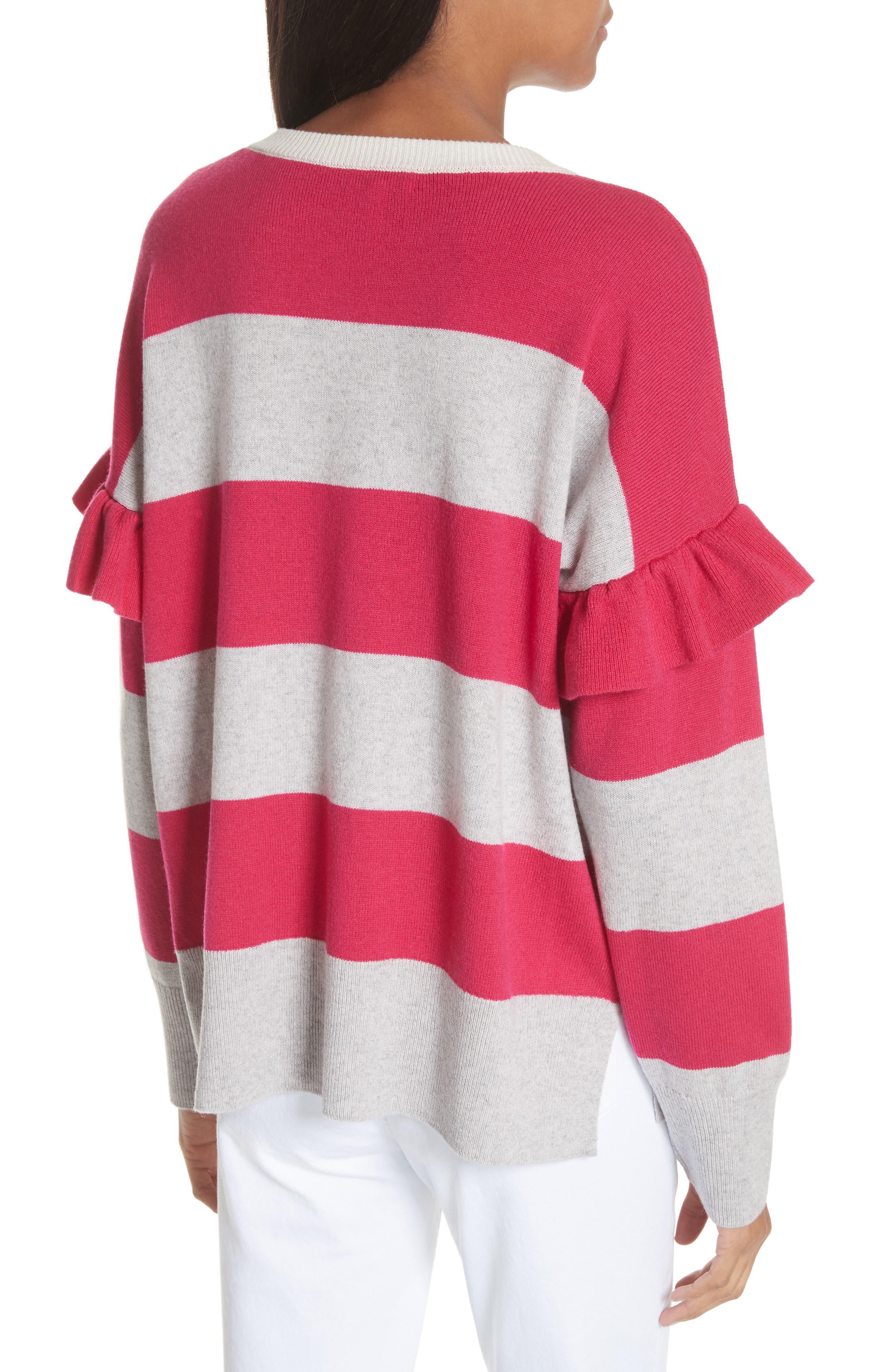 Inghin Stripe Wool & Cashmere Sweater,                             Alternate thumbnail 2, color,                             Hacienda/ Heather Grey